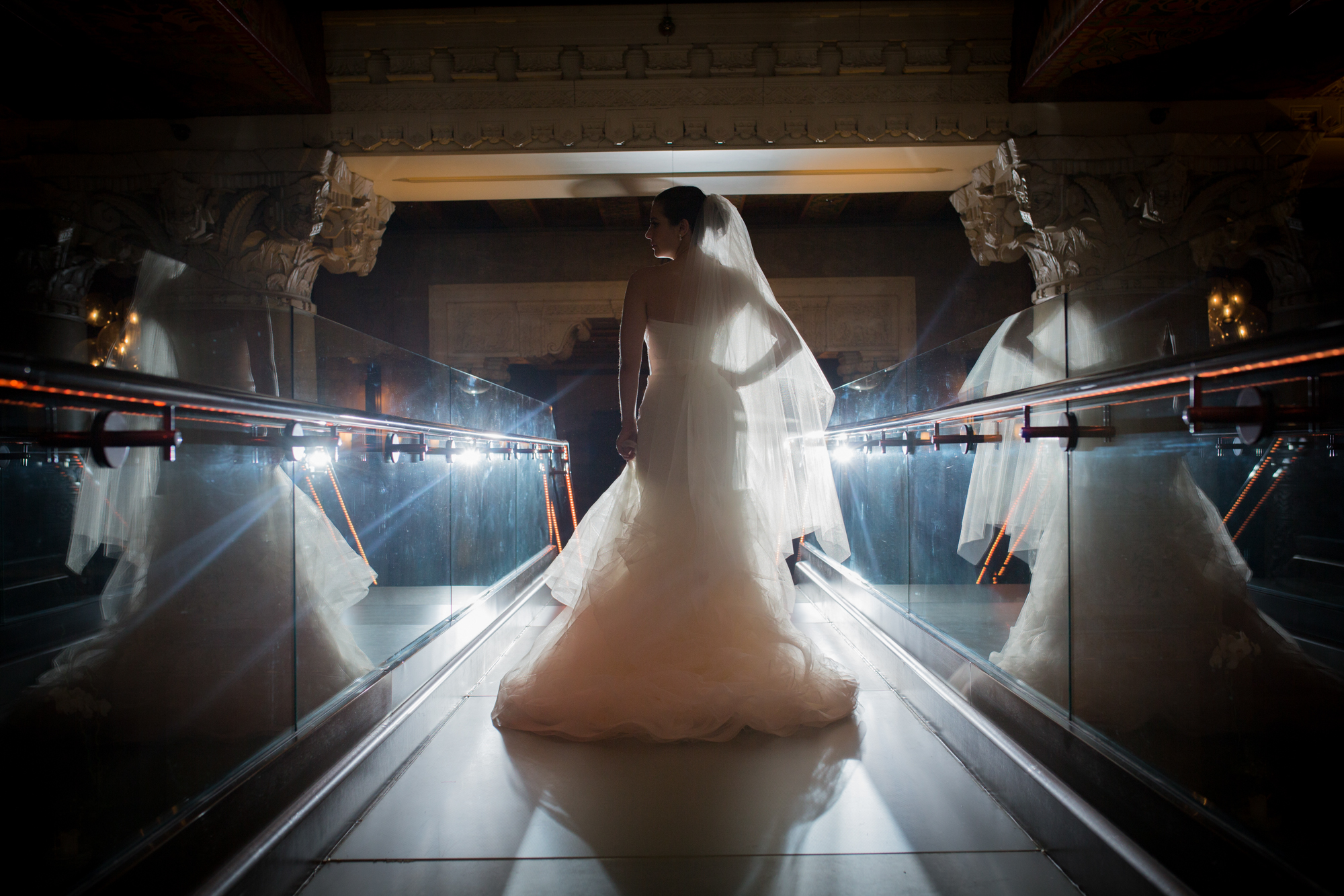 Editorial bridal photography in downtown Chicago