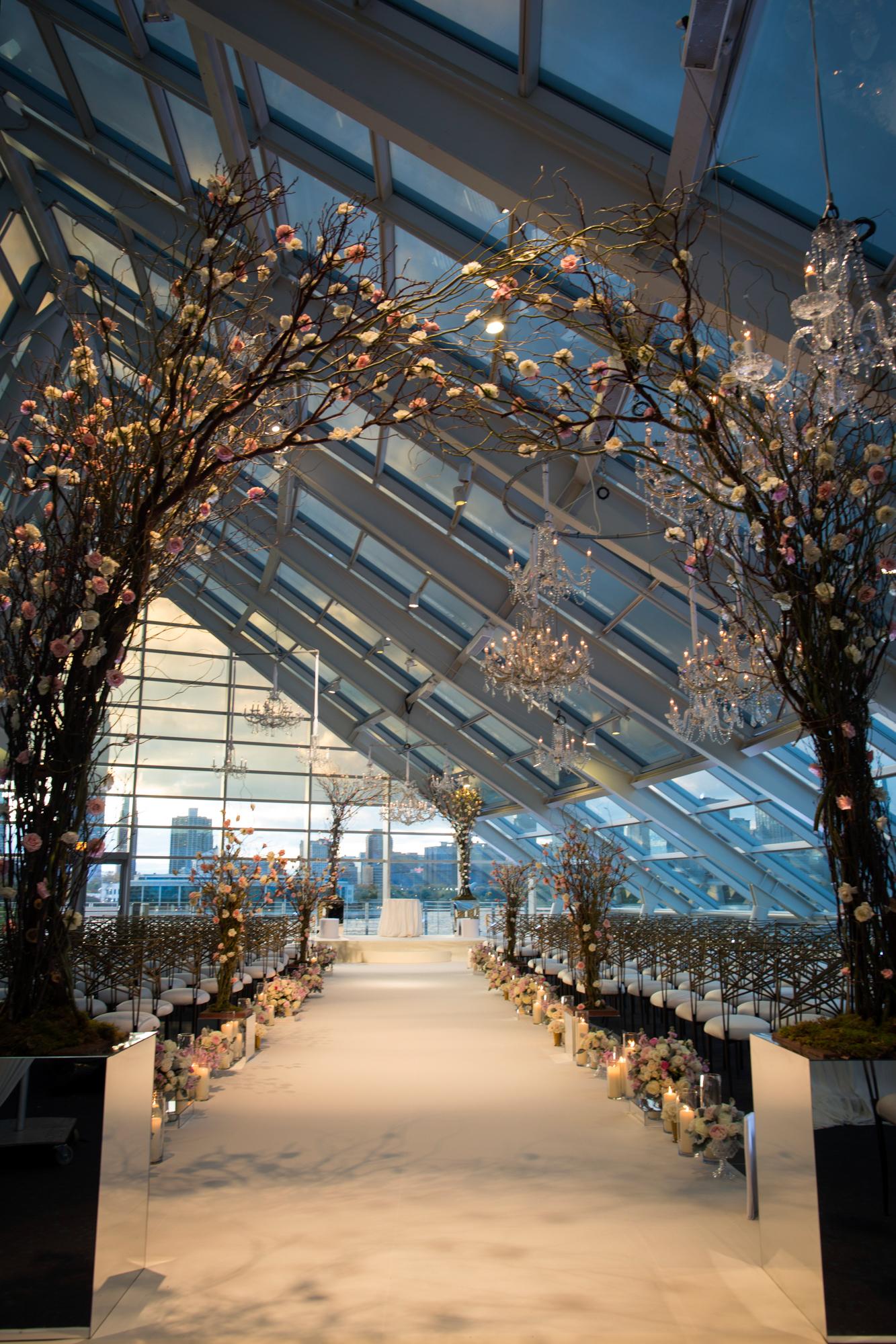 Wedding ceremony at Adler Planetarium