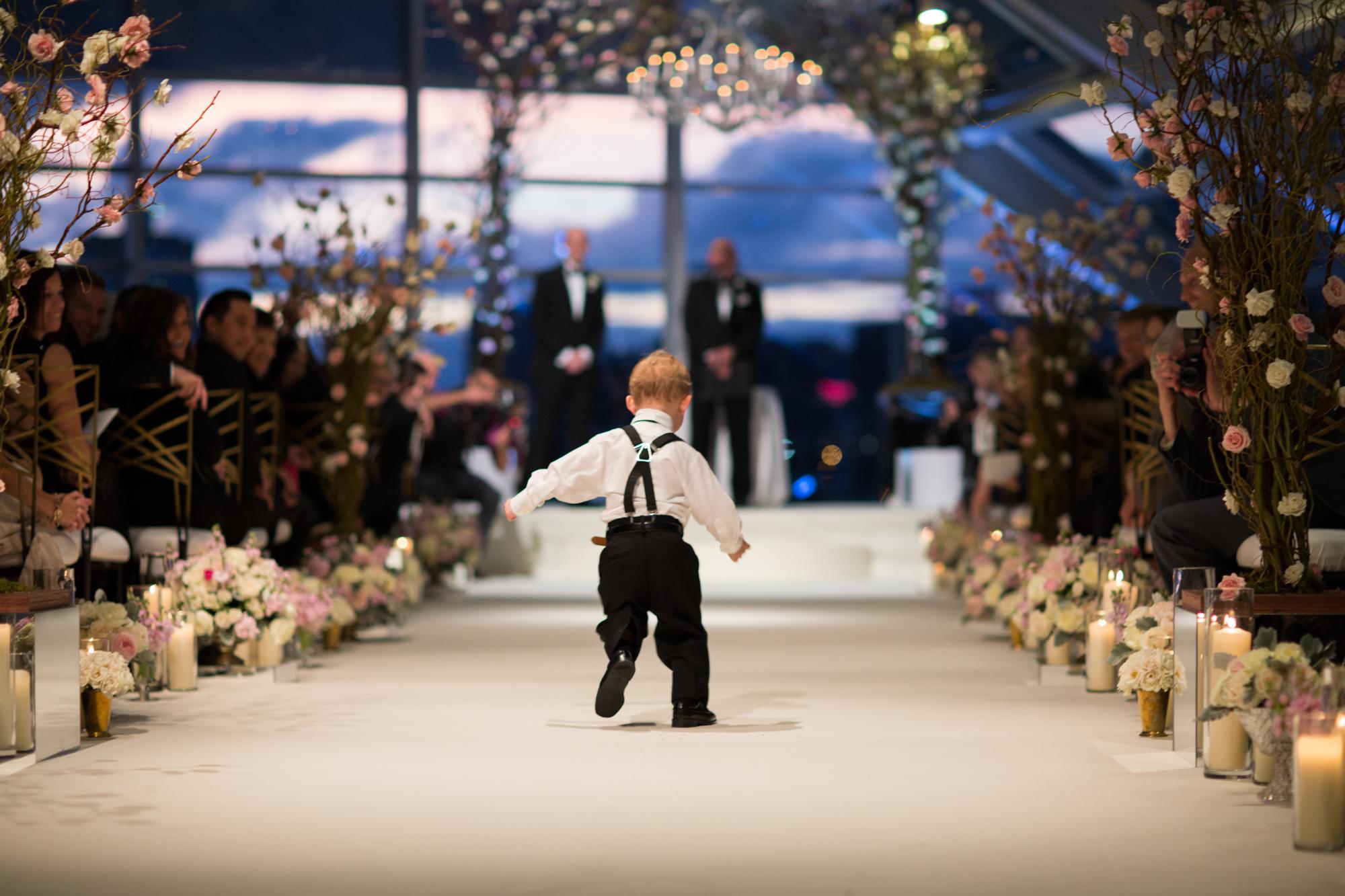 Documentary wedding photography at Adler Planetarium in Chicago