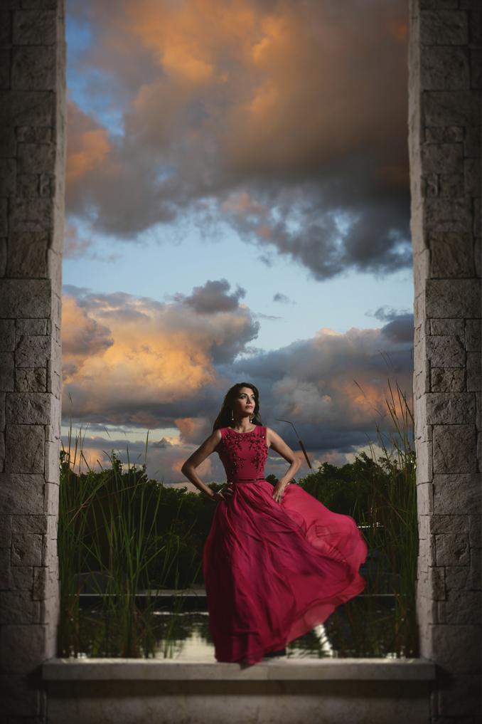 Editorial bridal portrait in Playa Del Carmen, Mexico