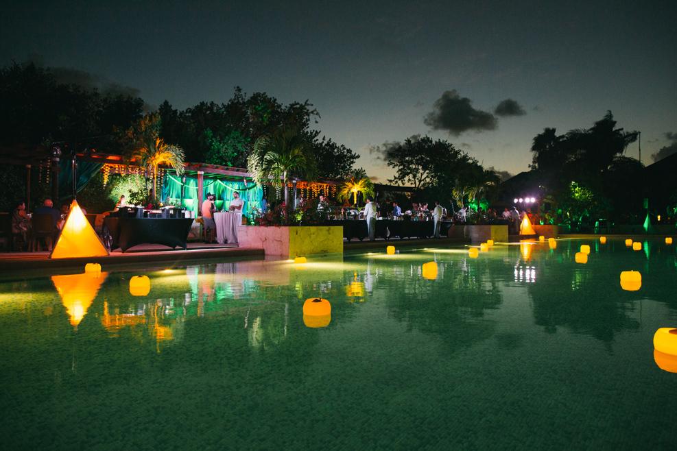 Mehndi ceremony at Indian wedding in Playa Del Carmen, Mexico