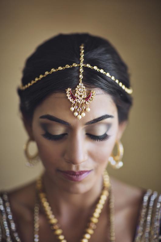 Bridal portrait at South Asian wedding in Fairmont Mayakoba, Riviera Maya, Mexico