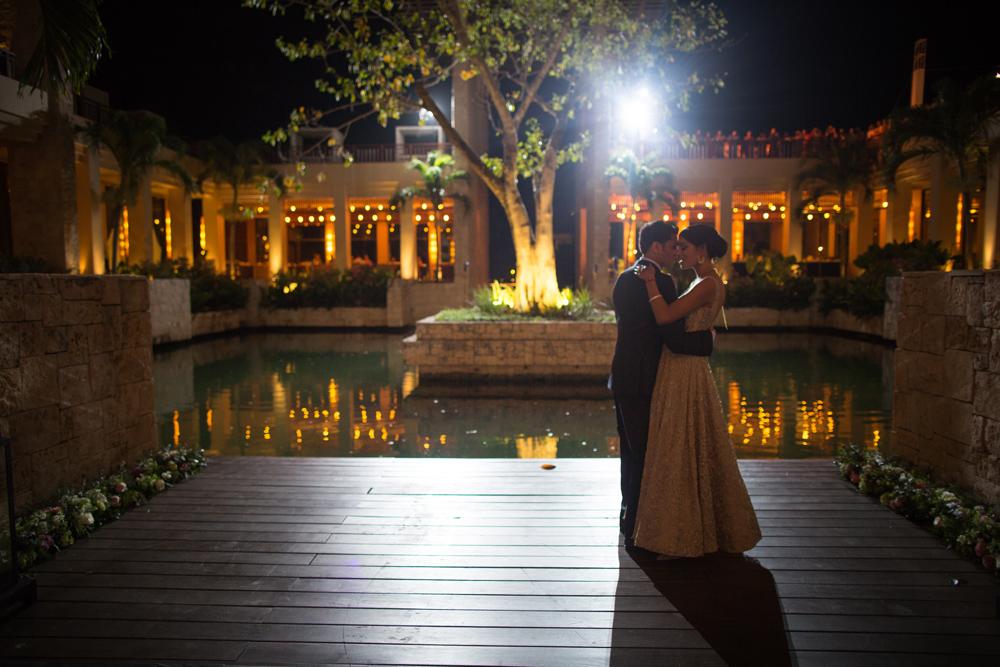 Editorial destination wedding photography at Fairmont Mayakoba, Riviera Maya, Mexico