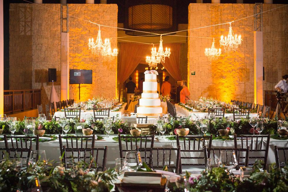 Wedding reception at Fairmont Mayakoba, Riviera Maya, Mexico