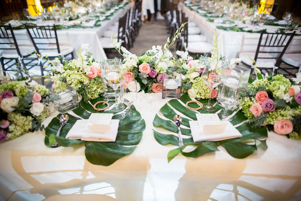 Luxury wedding reception i Fairmont Mayakoba, Riviera Maya, Mexico