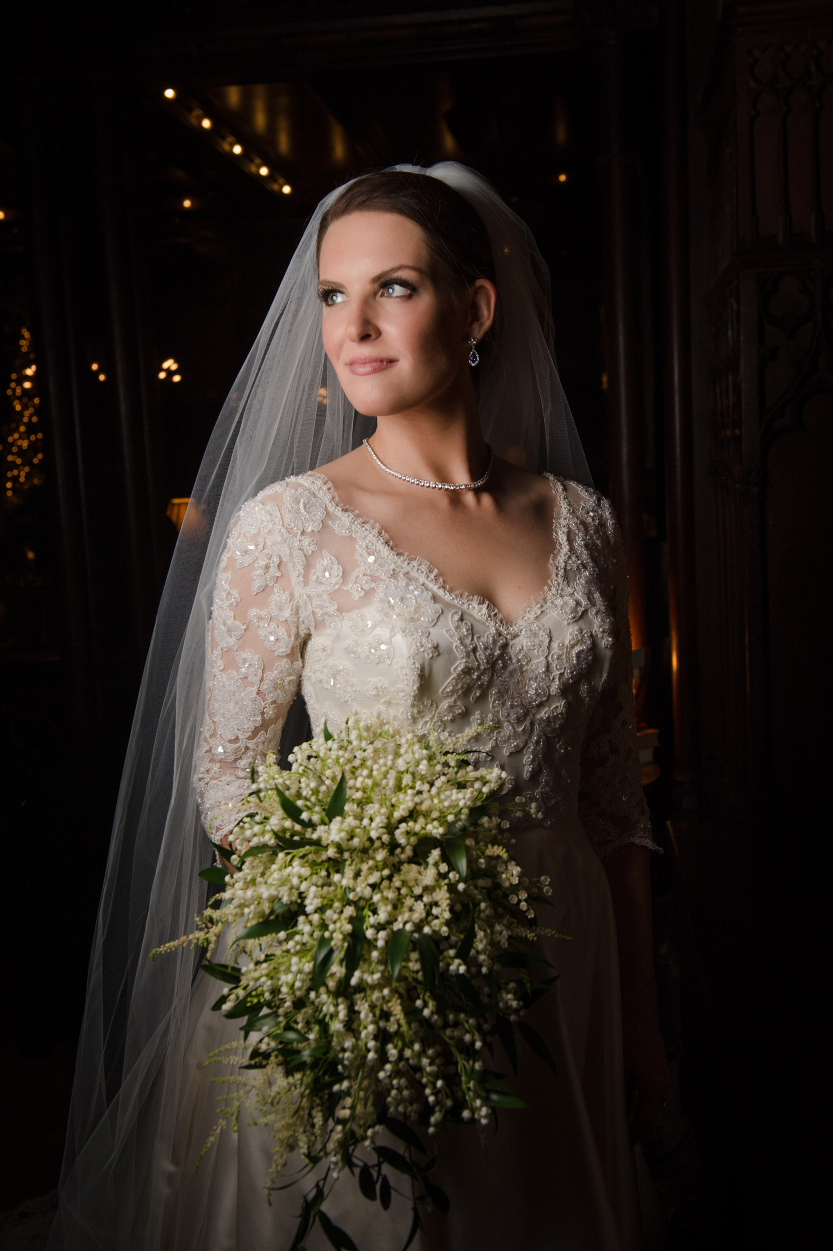 Bridal portrait at Chicago Athletic Association