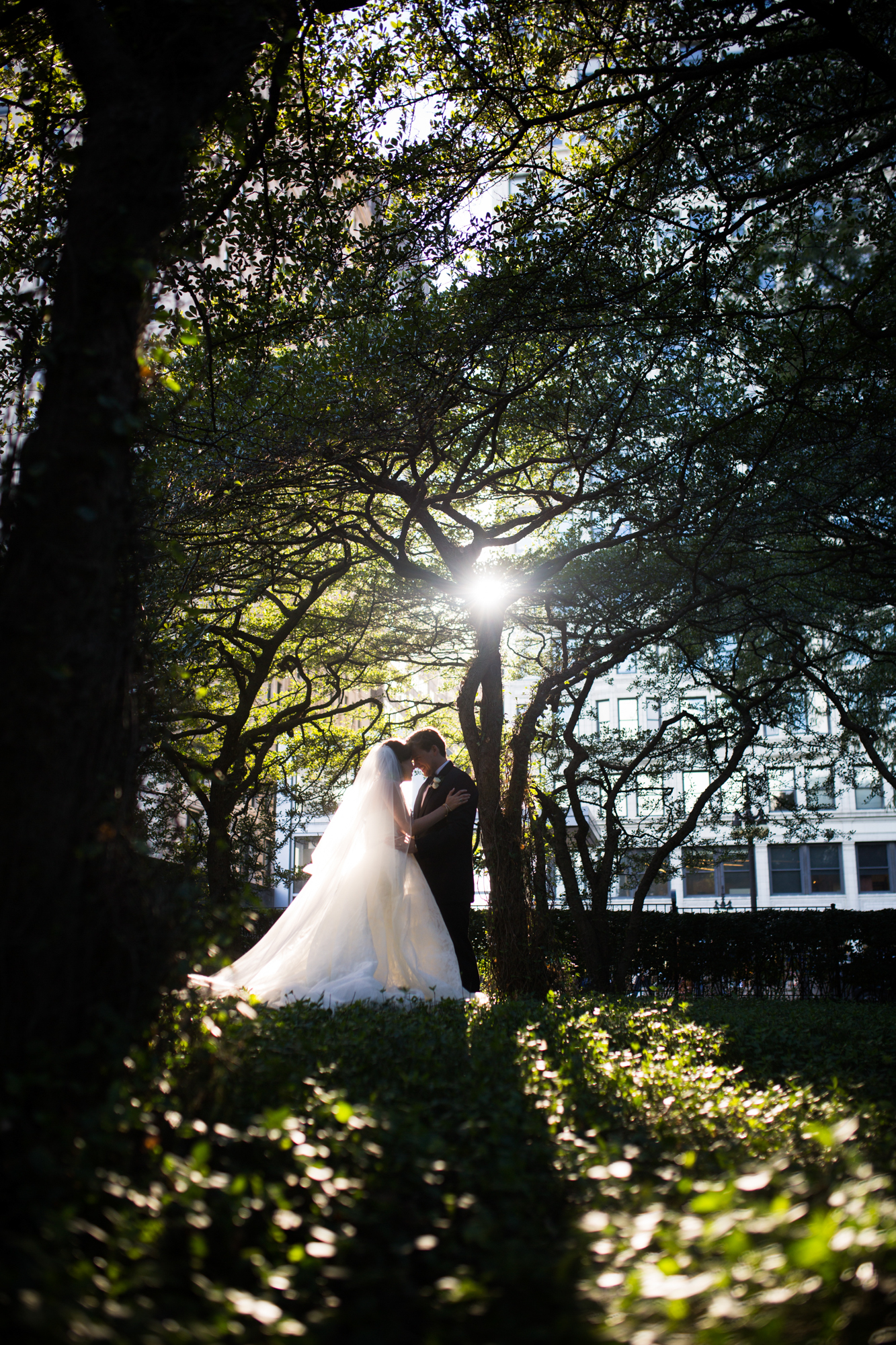 Chicago Millennium Park Harris Theater Rooftop Wedding
