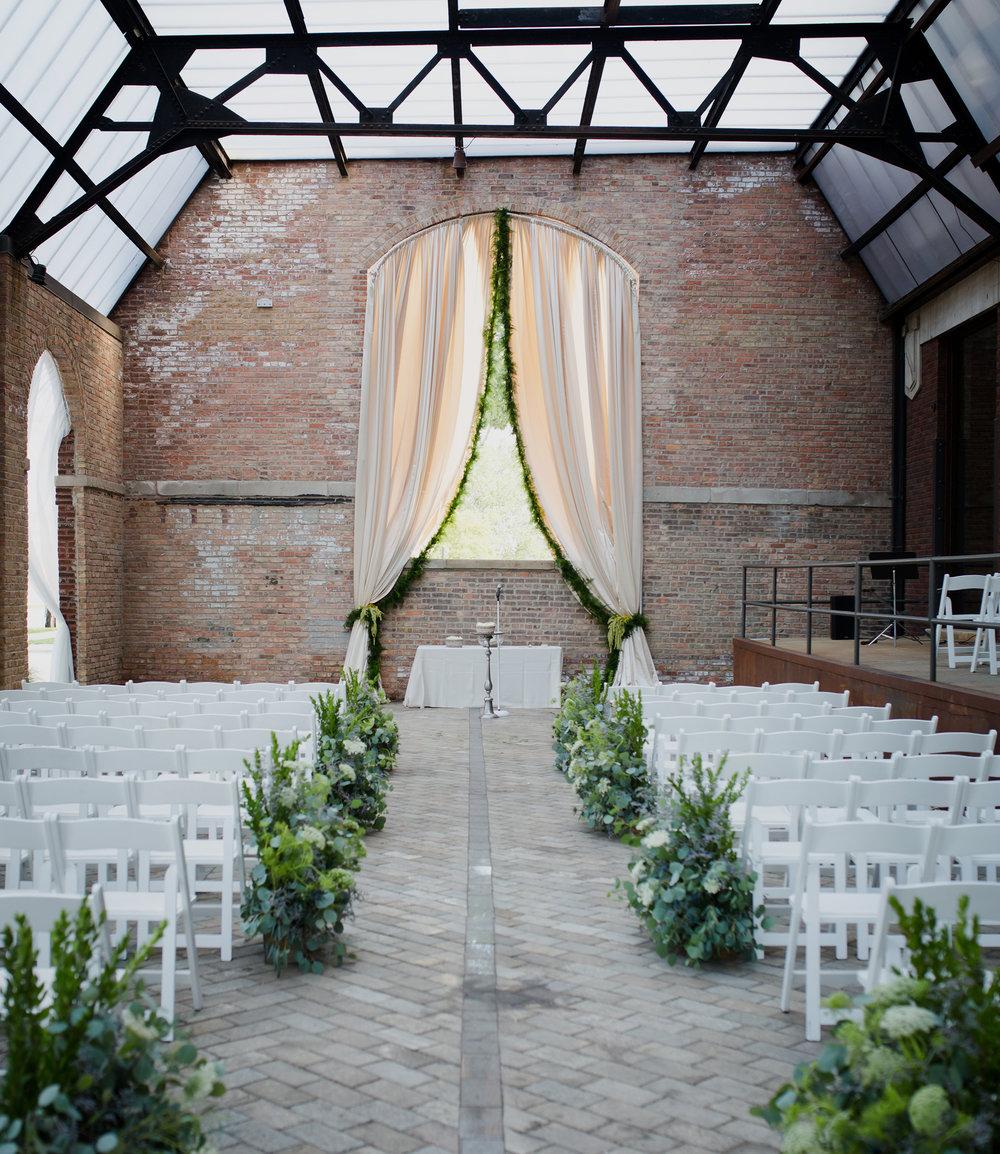 organic sculpture garden wedding -