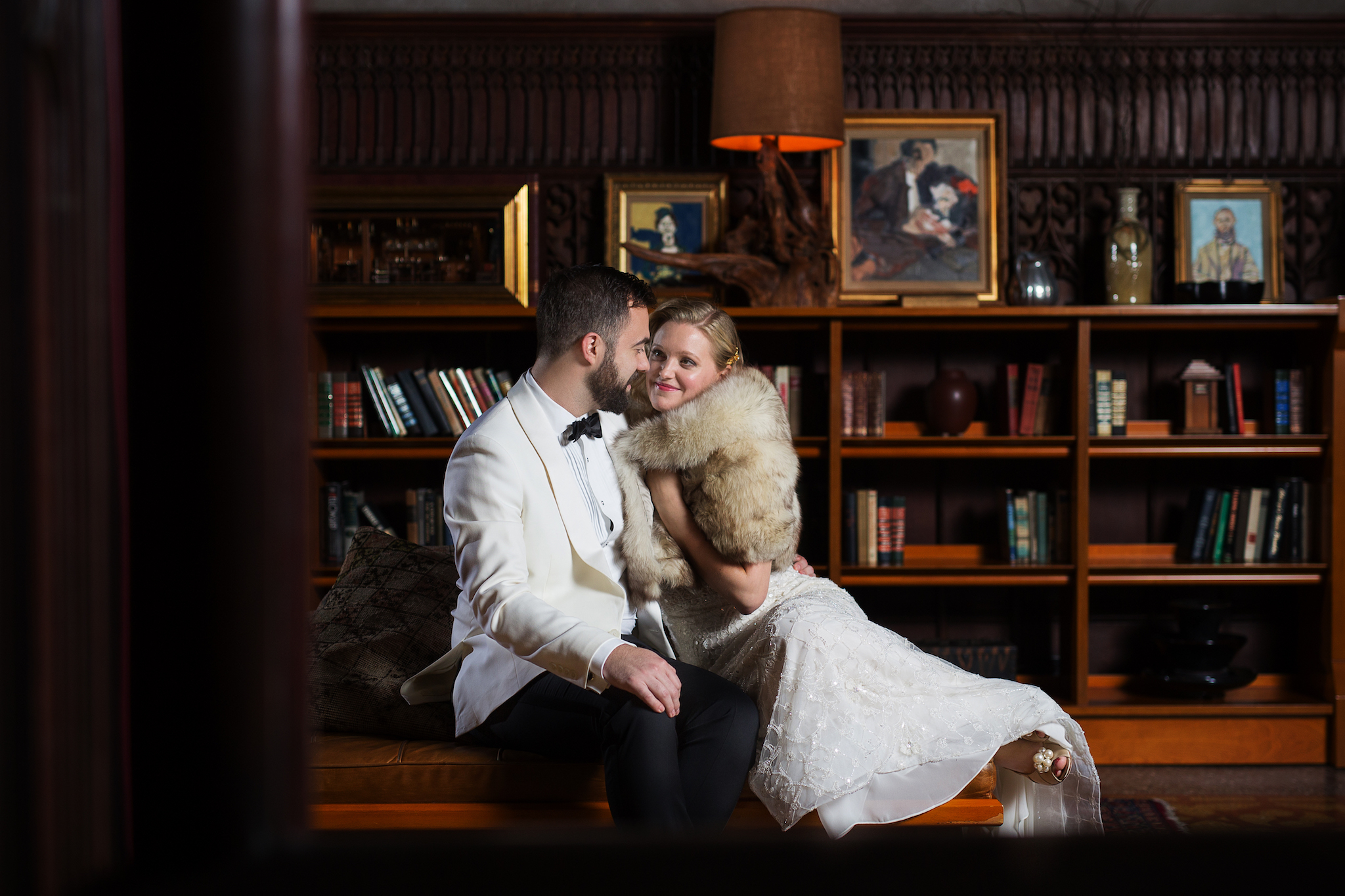 Chicago Athletic Association Wedding Portrait