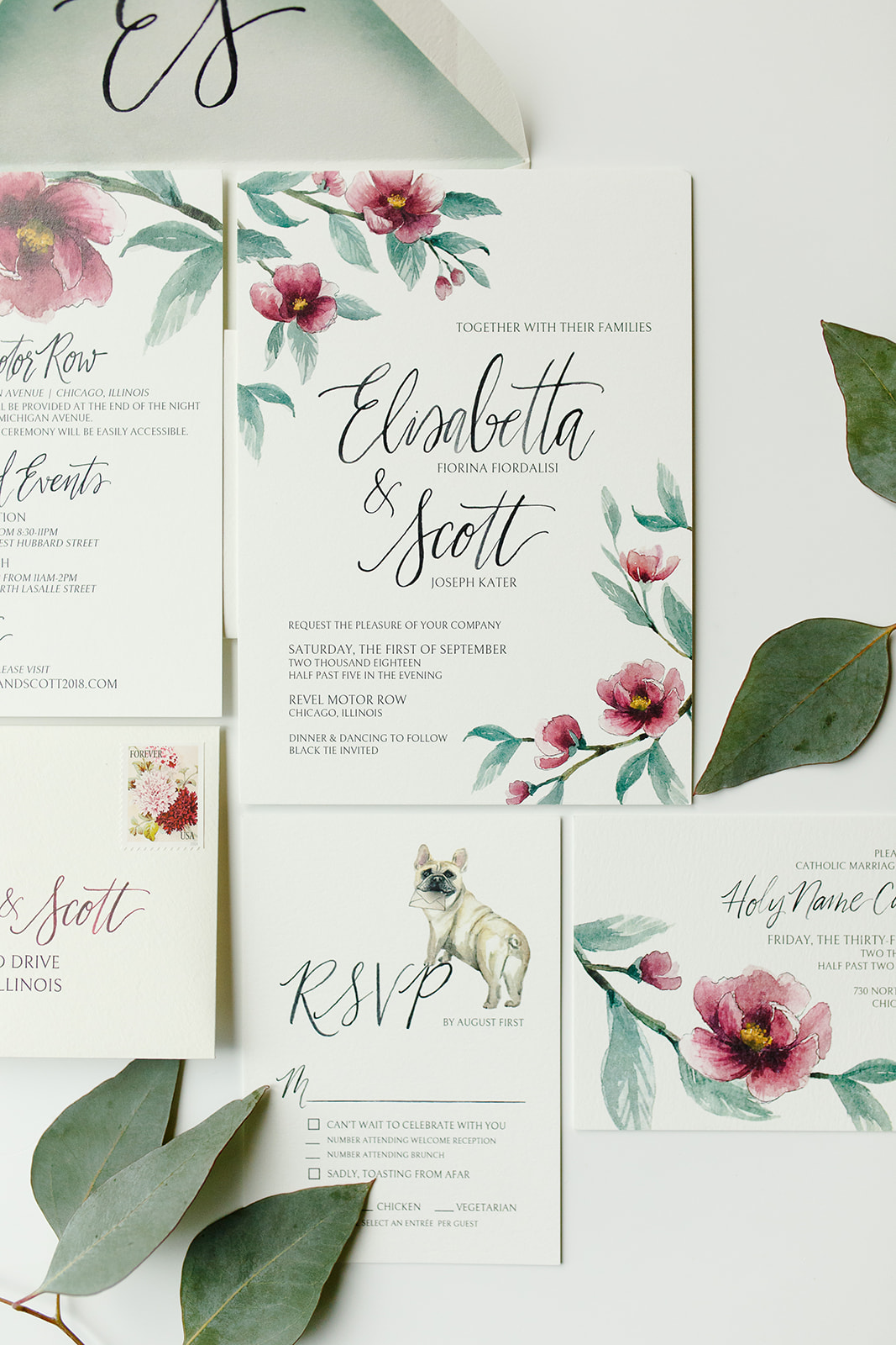invitation suite for wedding at revel motor row