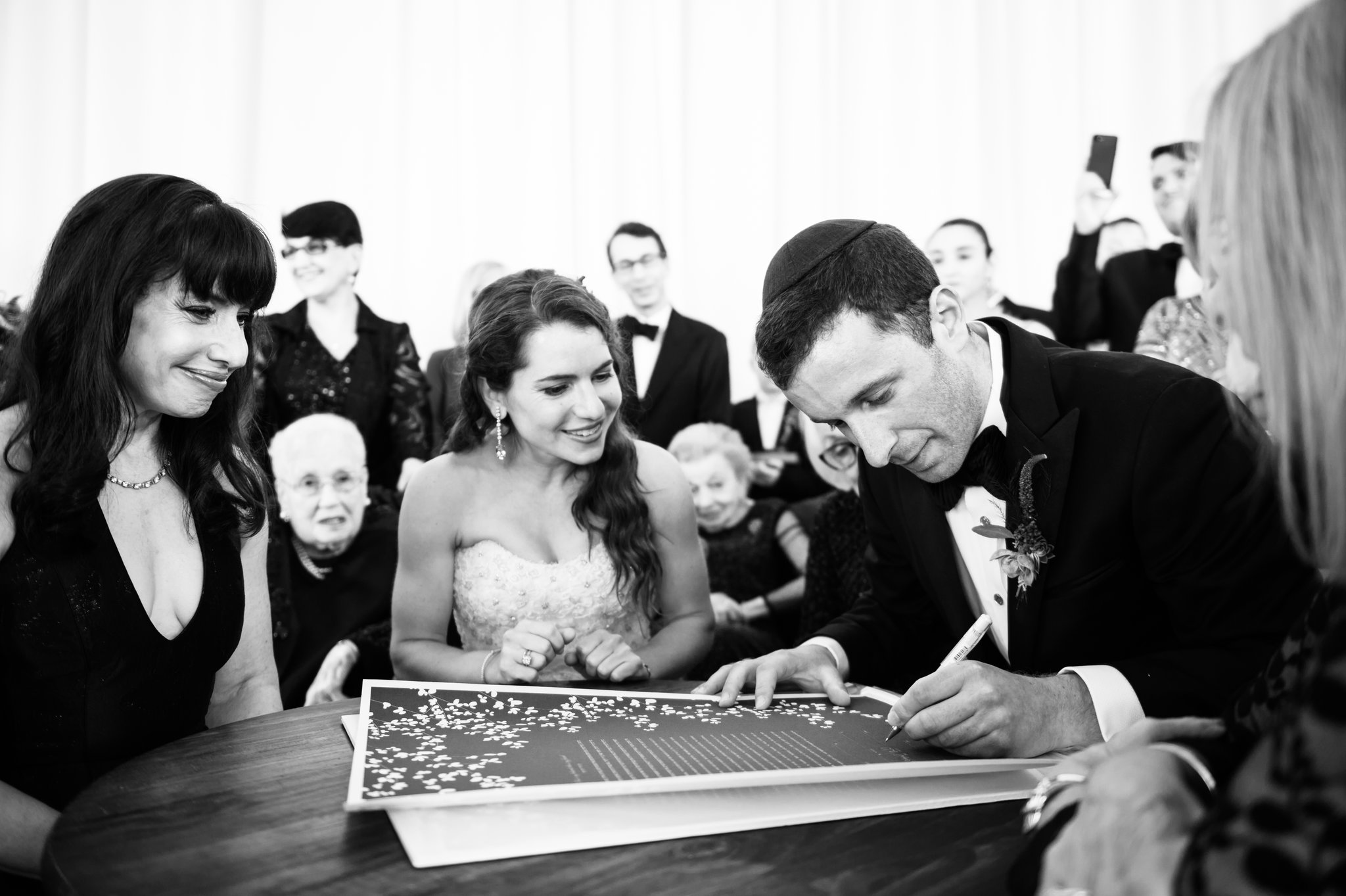 This is such a great documentary photo of the Ketubah signing at Northerly Island.