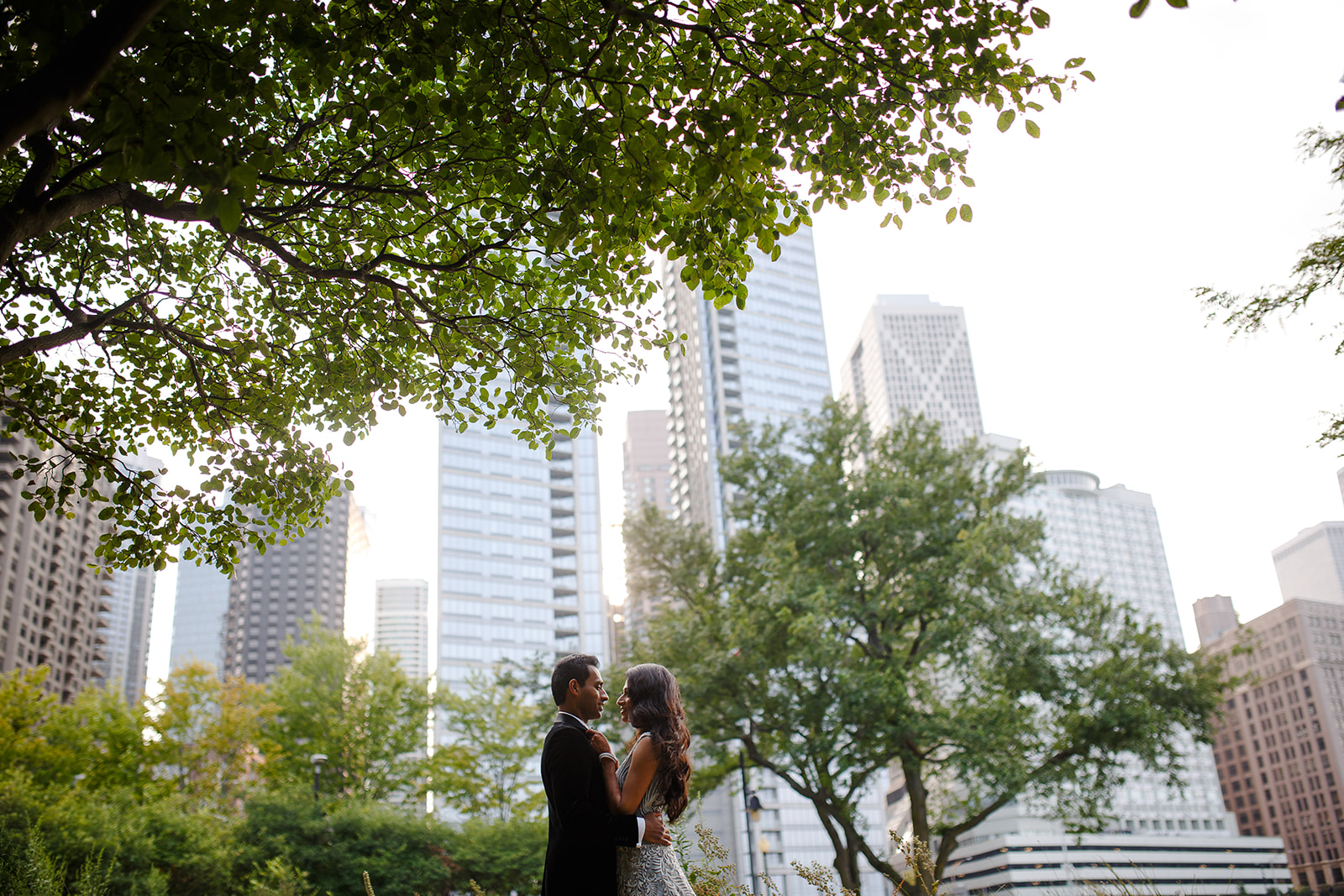 A quick trip outside provided for some portraits in front of the skyline of the city.