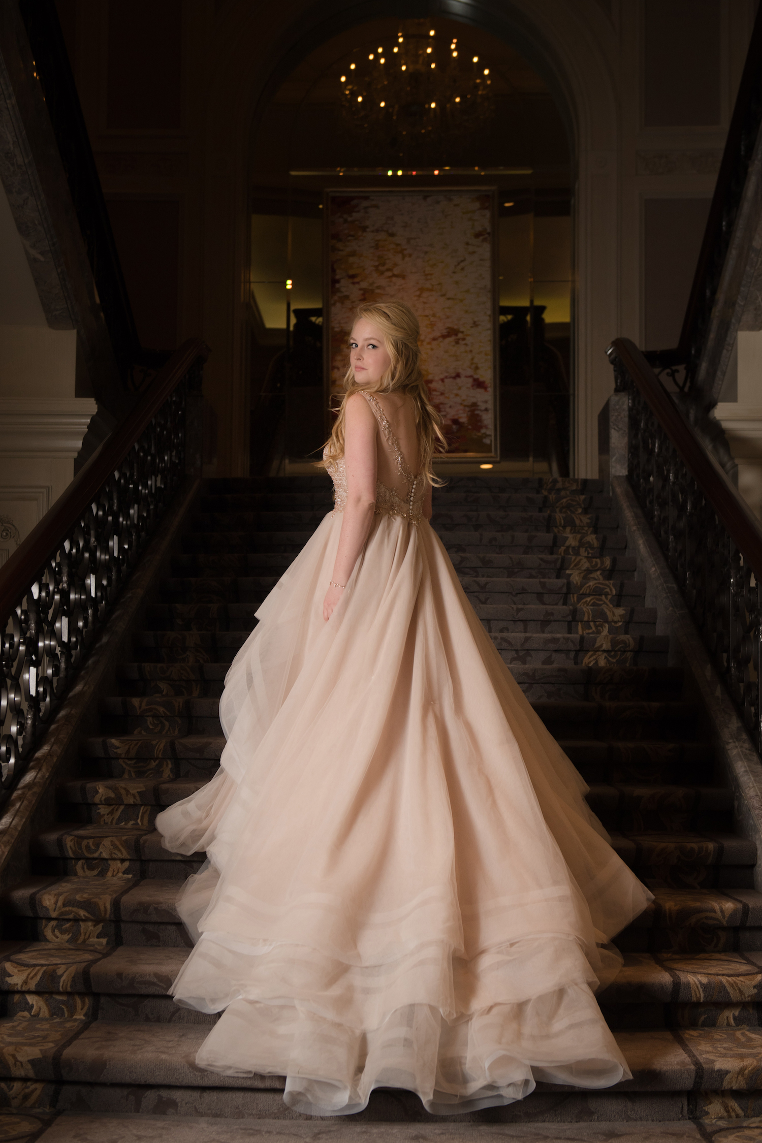The staircase at the Four Seasons inspires us for these editorial style portraits.