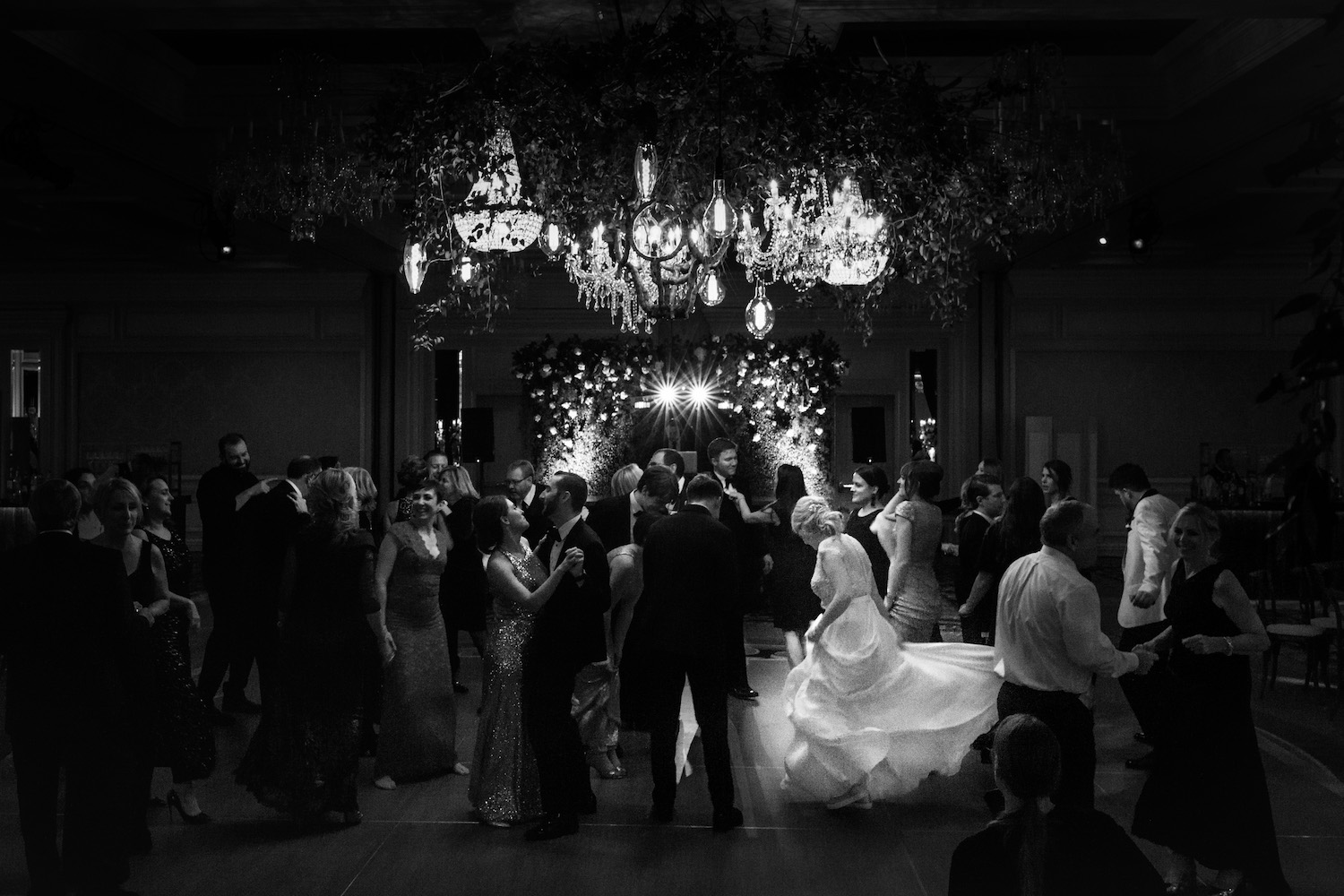 Classic, documentary dancing photos at weddings can be hard to make happen but this is one of our favorites from the last year. Margie's reception dress had a gorgeous flowing skirt that was so fun to photograph!