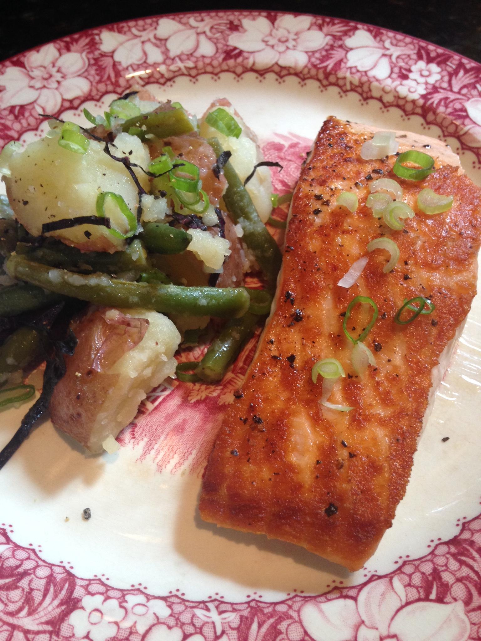 Seared Salmon with Potato-Green Bean Salad.JPG