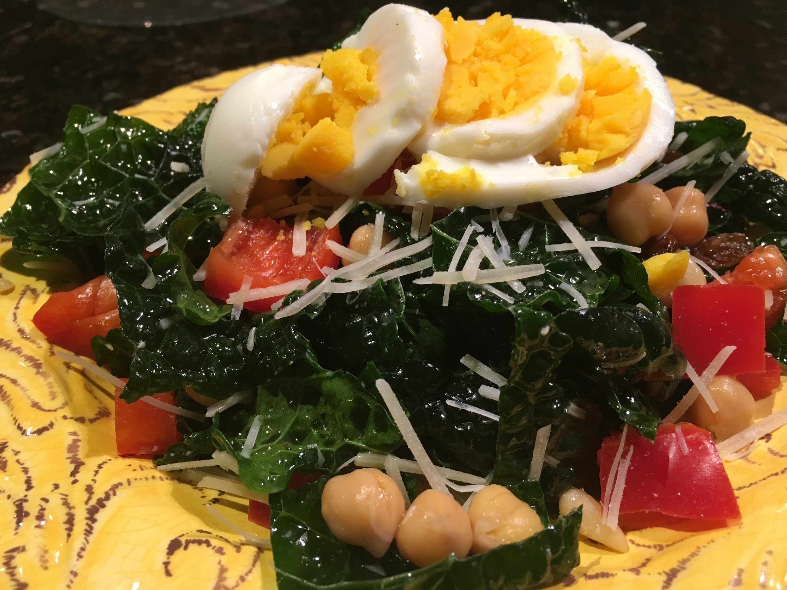 Tuscan Kale Salad with Hard-boiled eggs.JPG