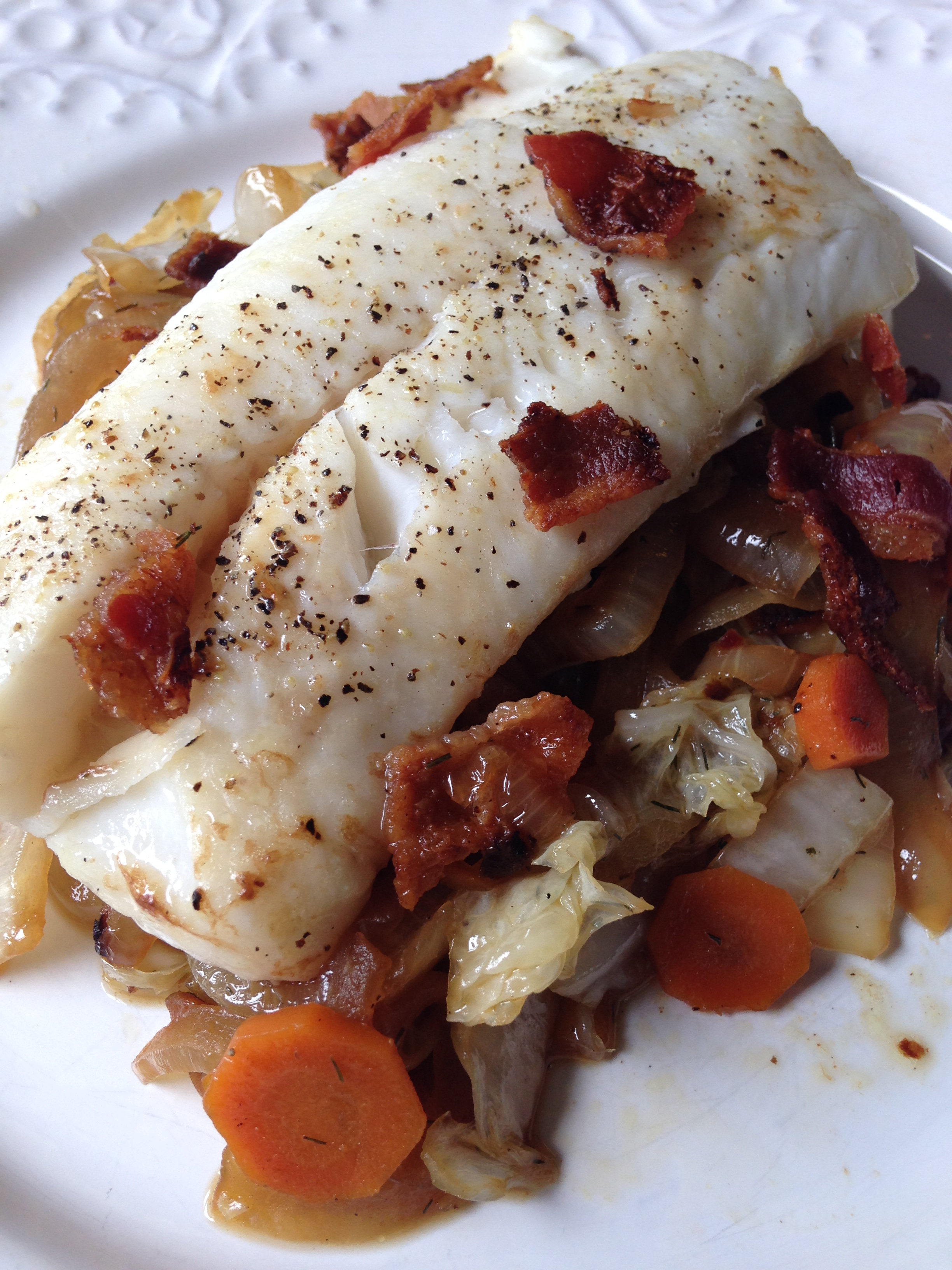 Roasted Cod with Bacony Cabbage.JPG
