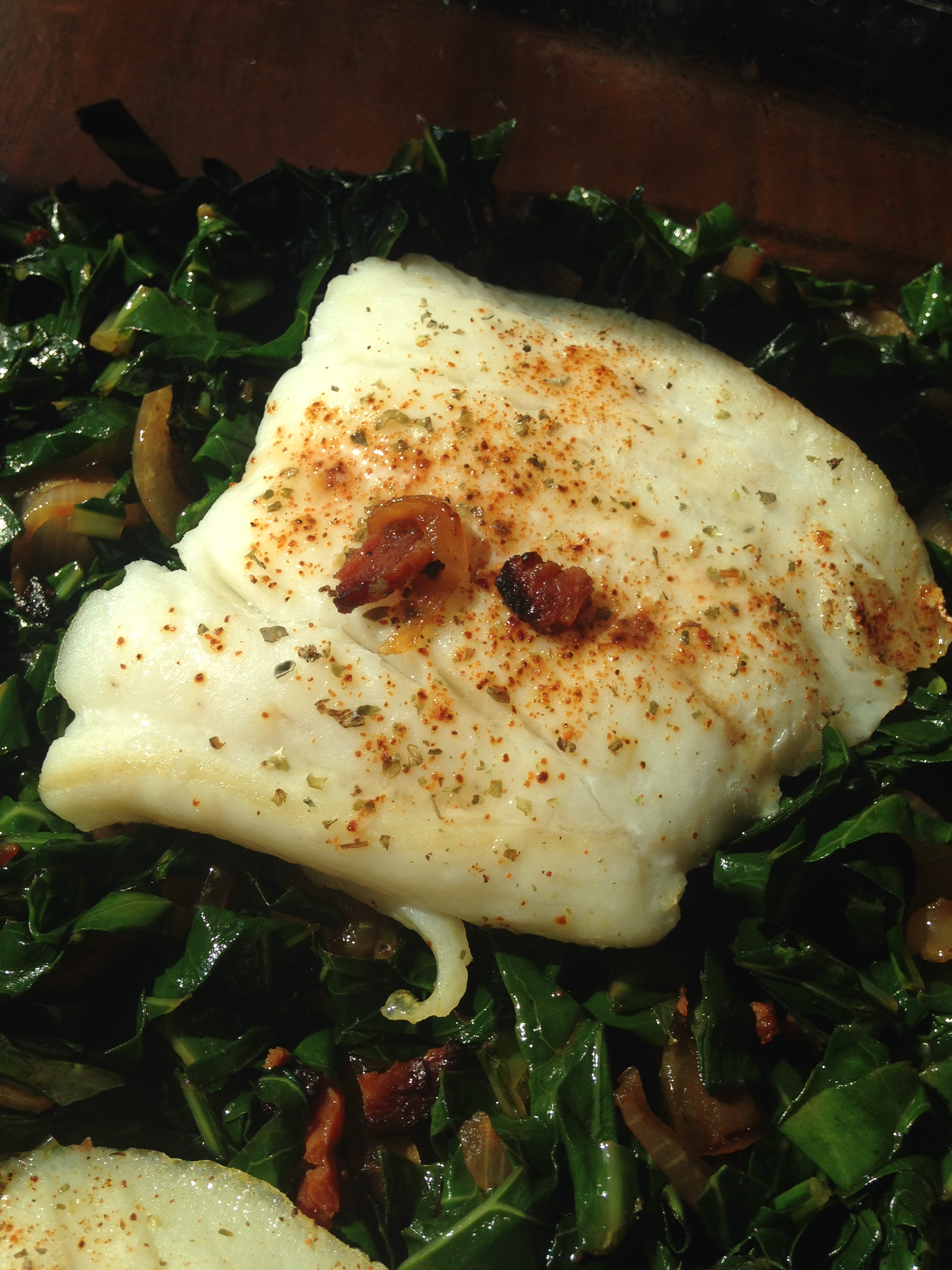 Cod and Collards with a Kick.JPG