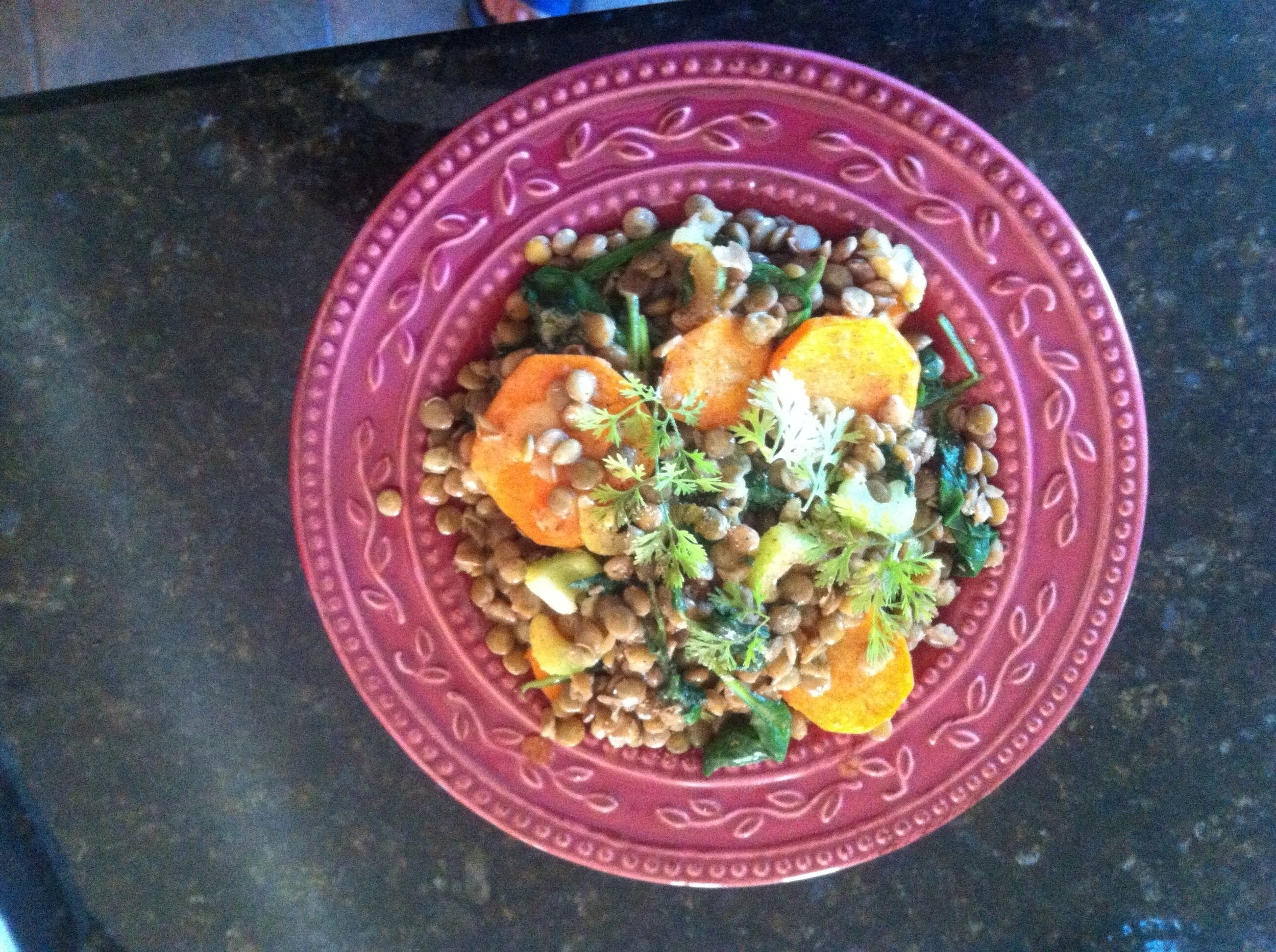 Warm Spinach & Lentil Salad.JPG