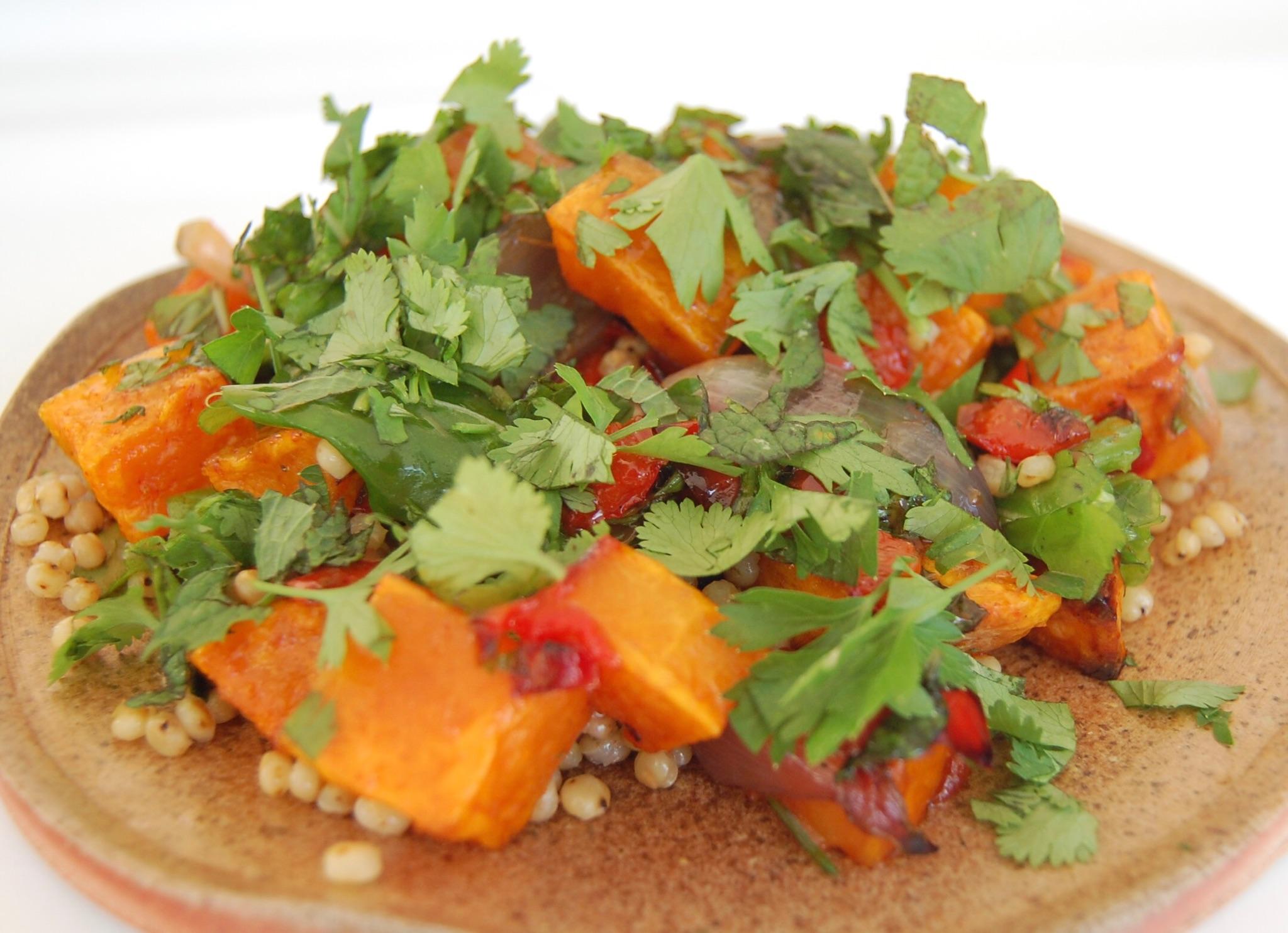 Warm Butternut Squash & Herbs Salad w Sorghum.JPG