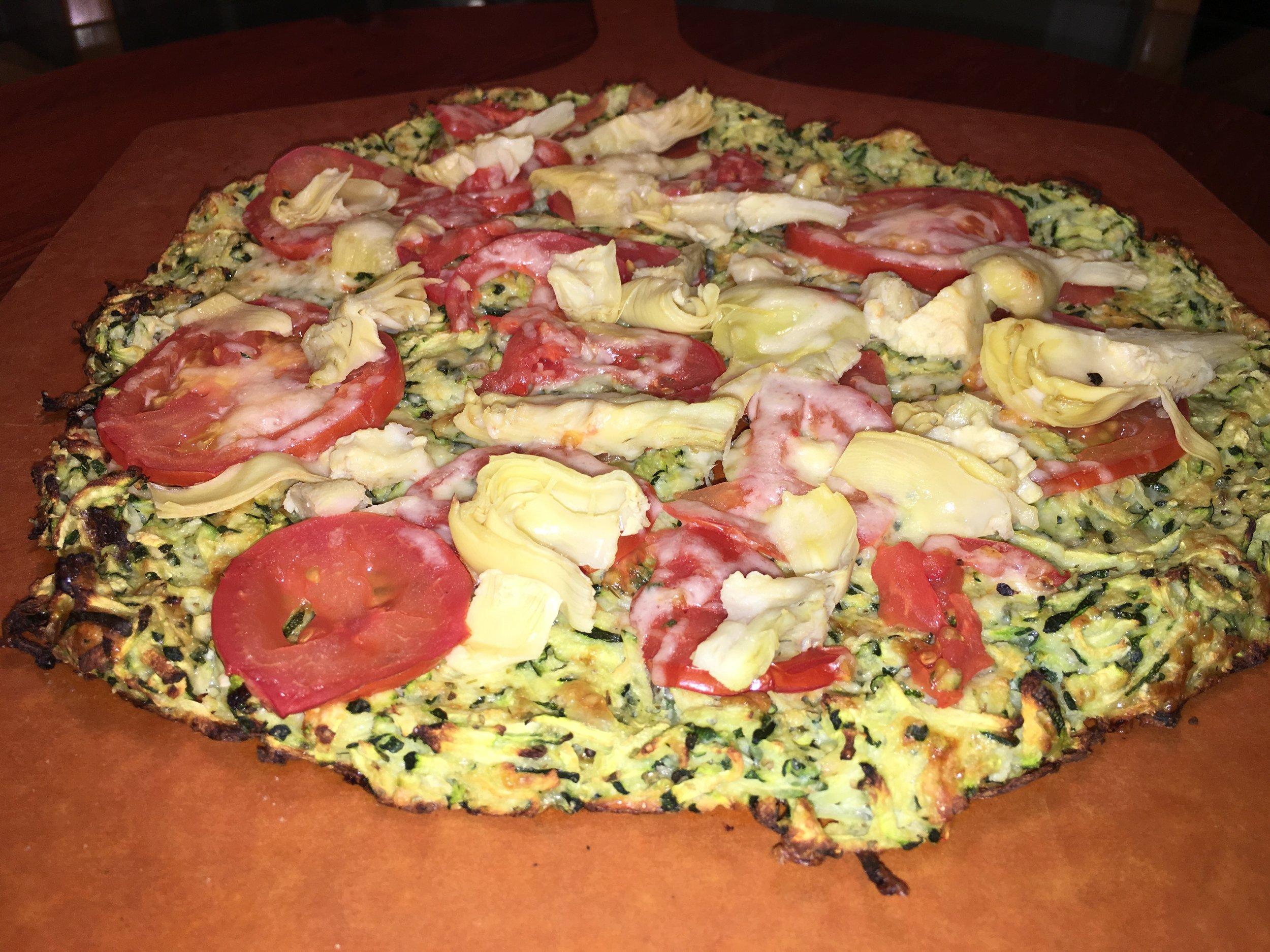 Pizza Night! Tomato%2c Artichoke & Mozzarella.JPG