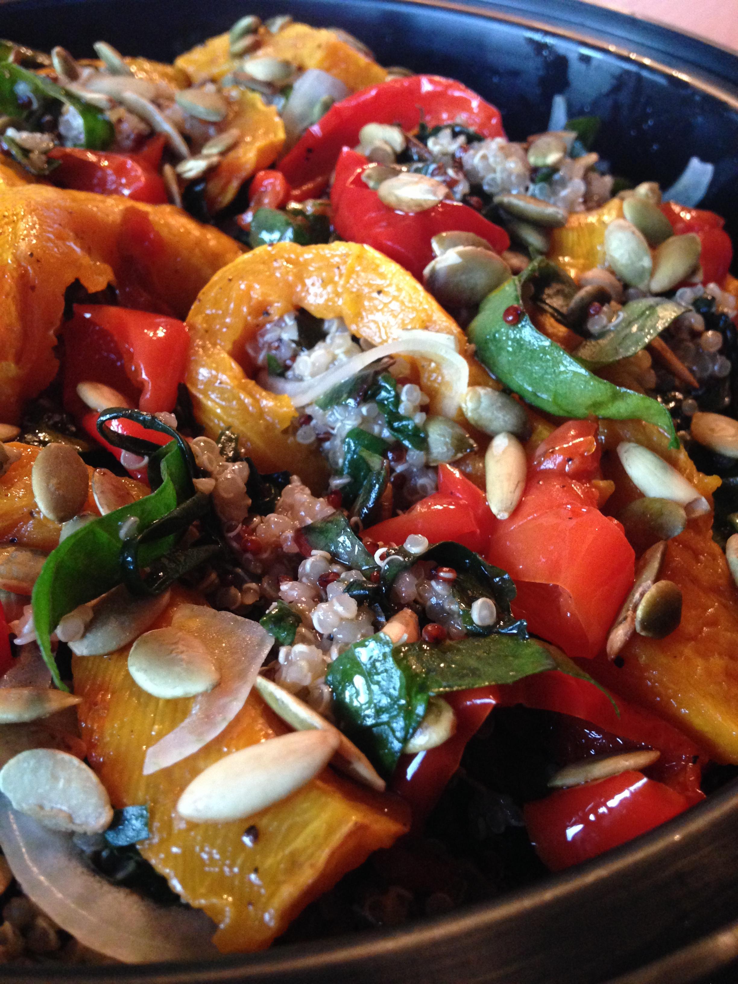 Warm Quinoa Salad w Roasted Squash & Peppers.JPG