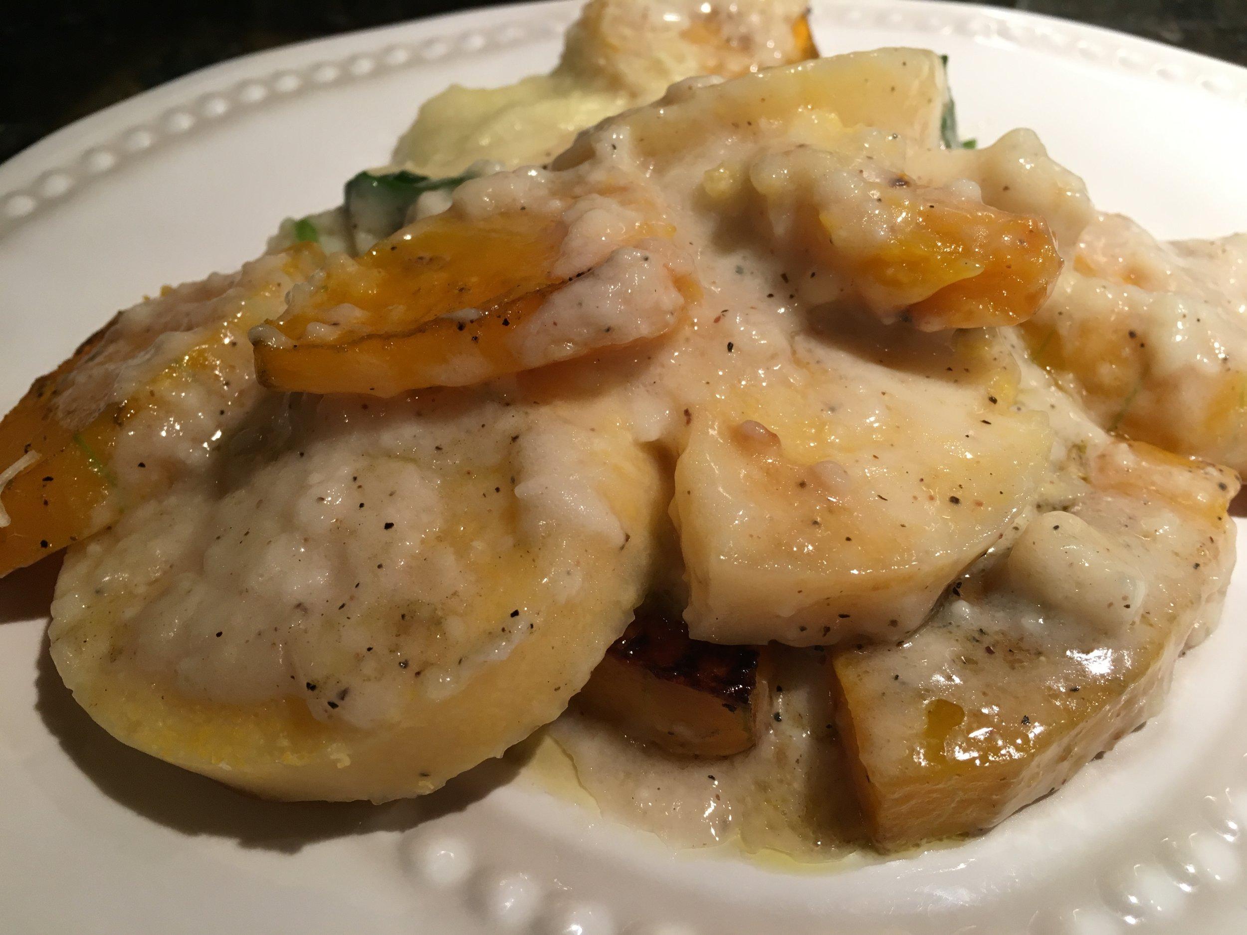 Butternut Squash%2c Chard%2c & Polenta Lasagna.JPG