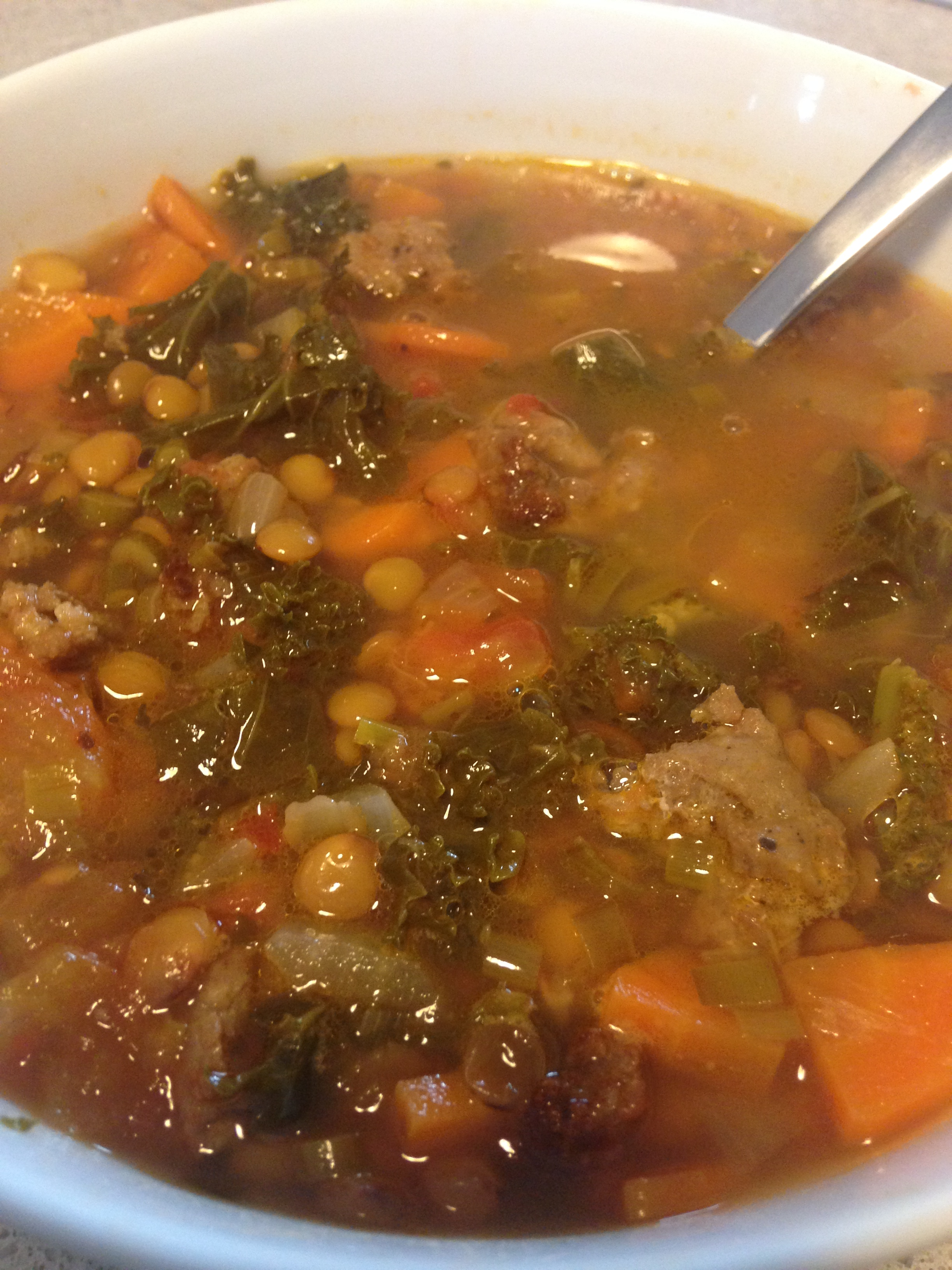 Lentil%2c Greens & Sausage Soup.JPG