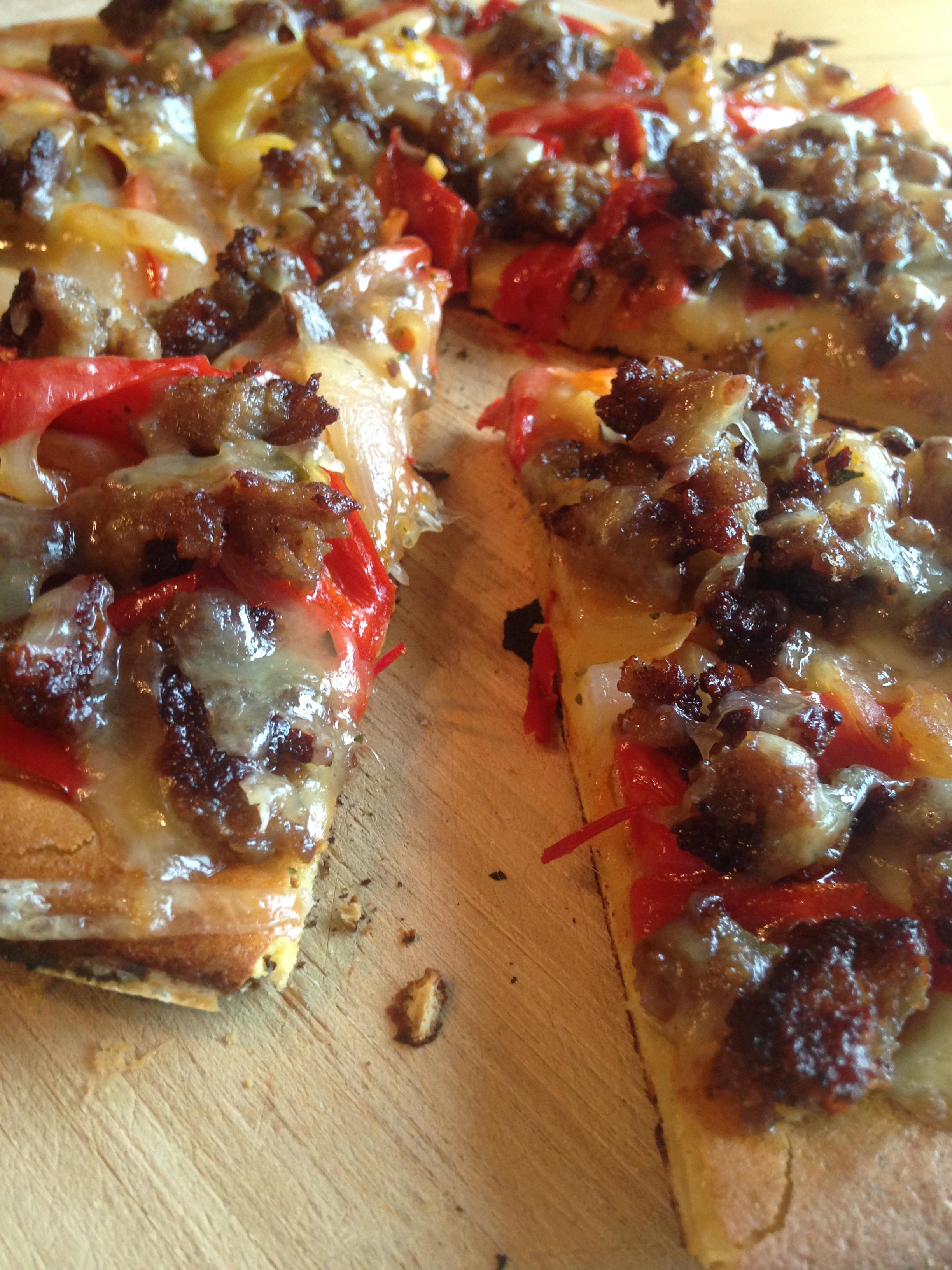 Pizza Night! Sausage%2c Pepper & Onion.JPG