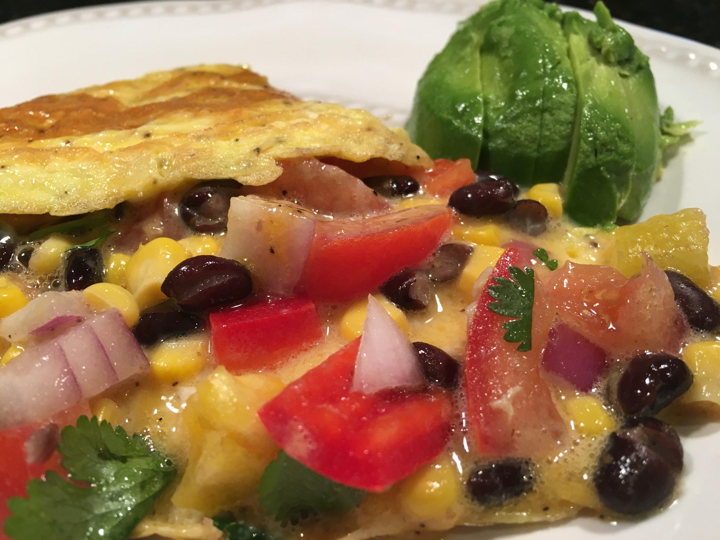 Tex-Mex Omelets w Avocado Slices.JPG