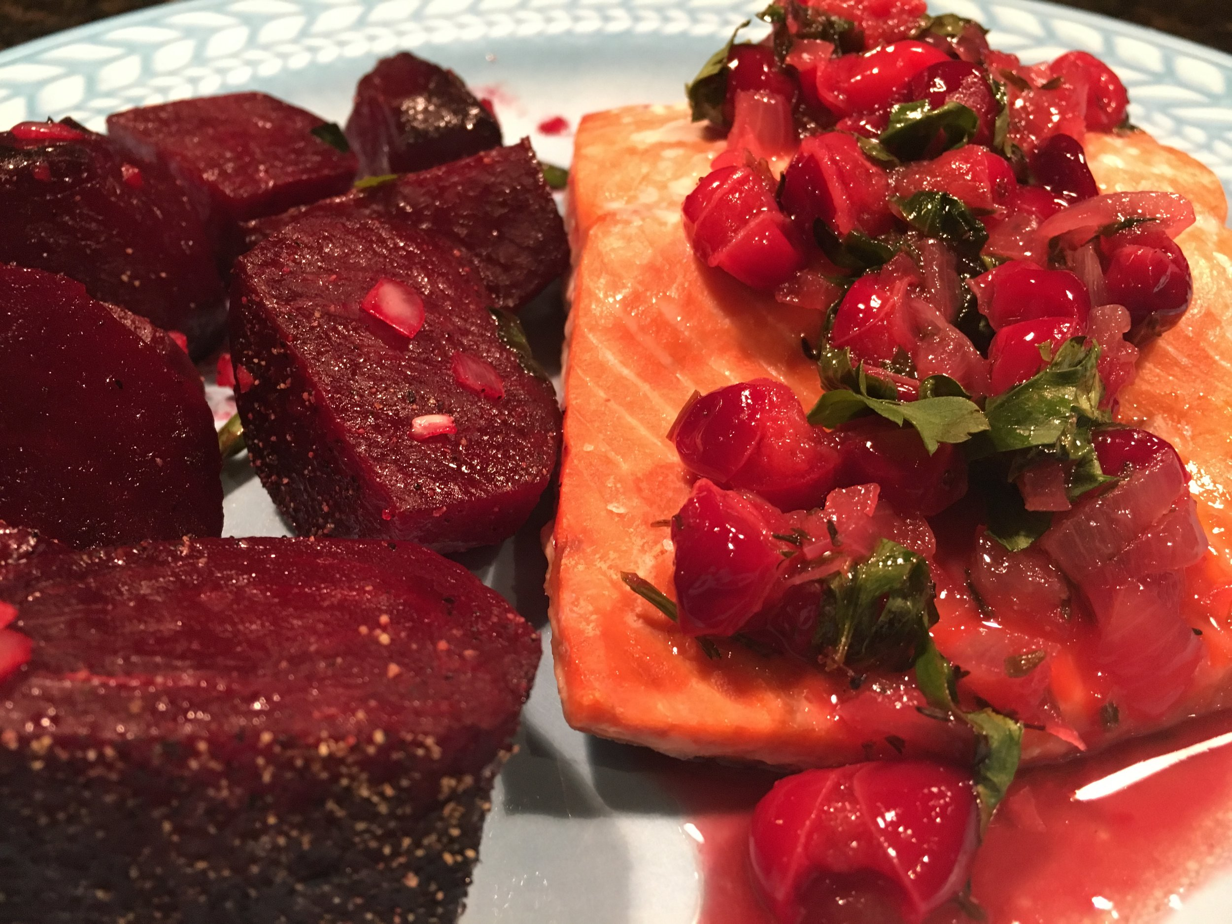Roasted Salmon w Cranberry Cider Drizzle & Roasted Beets.JPG