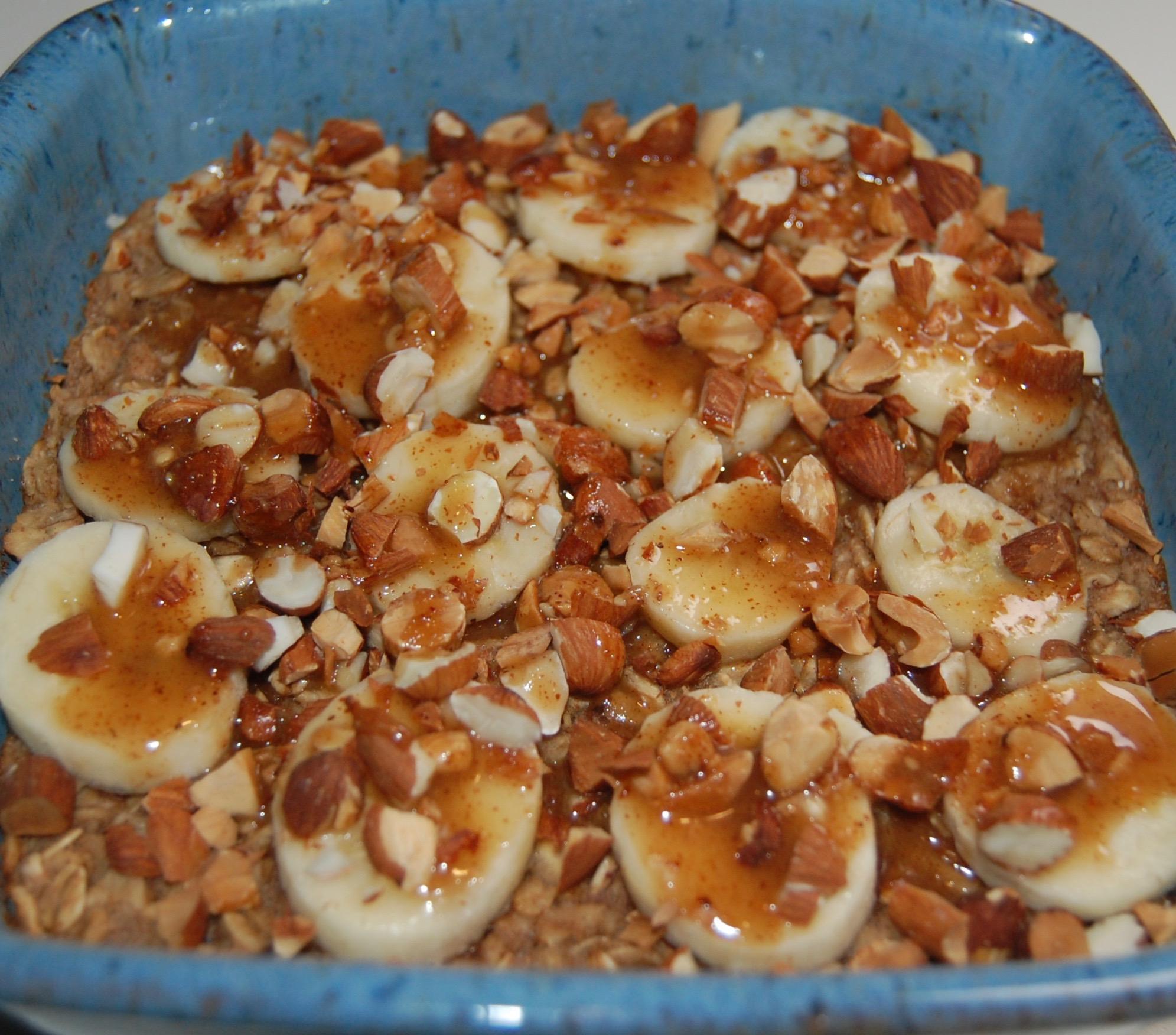 Baked Banana & Almond Butter Oatmeal.JPG