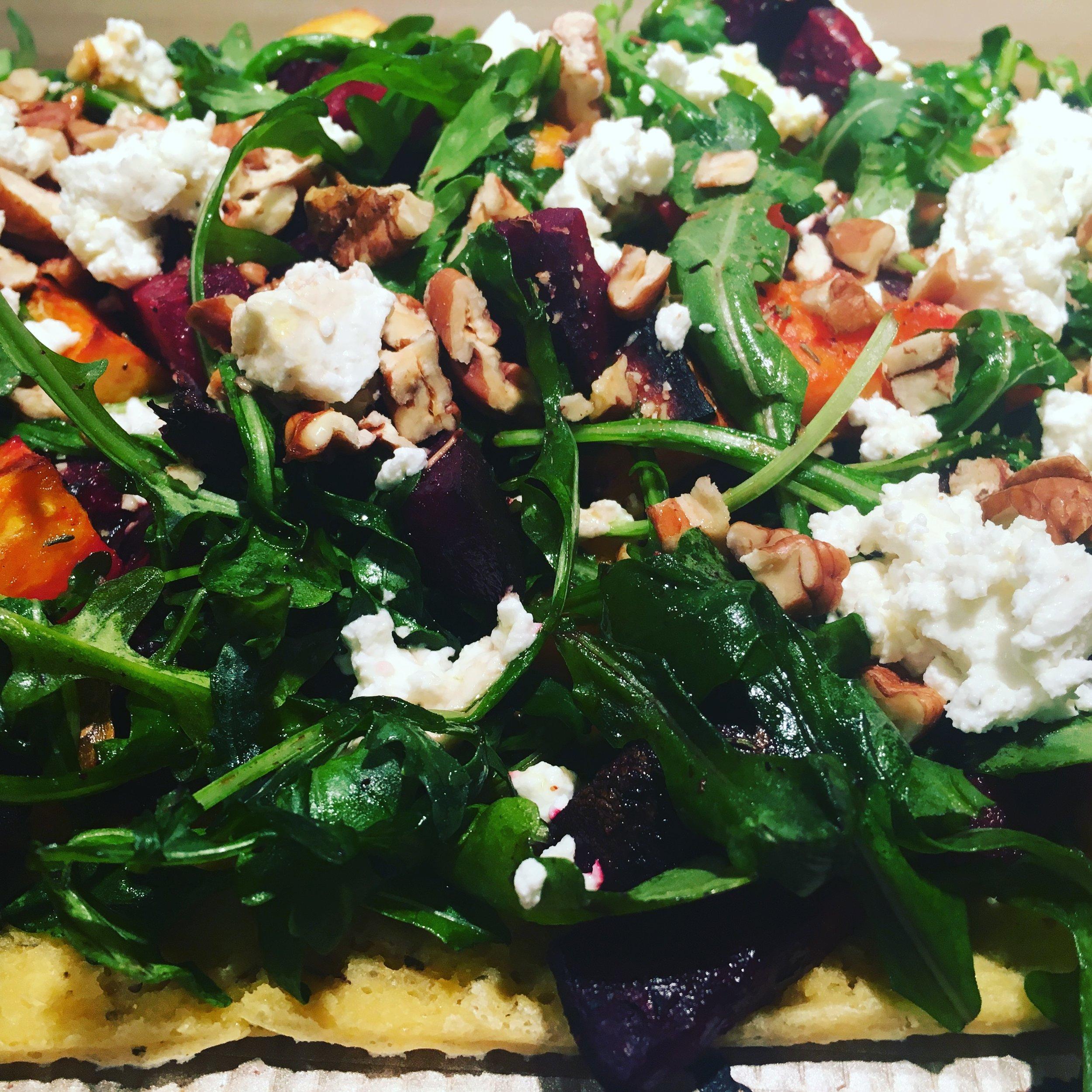 Pizza Night! Winter Vegetable Flatbreads w Salad.JPG