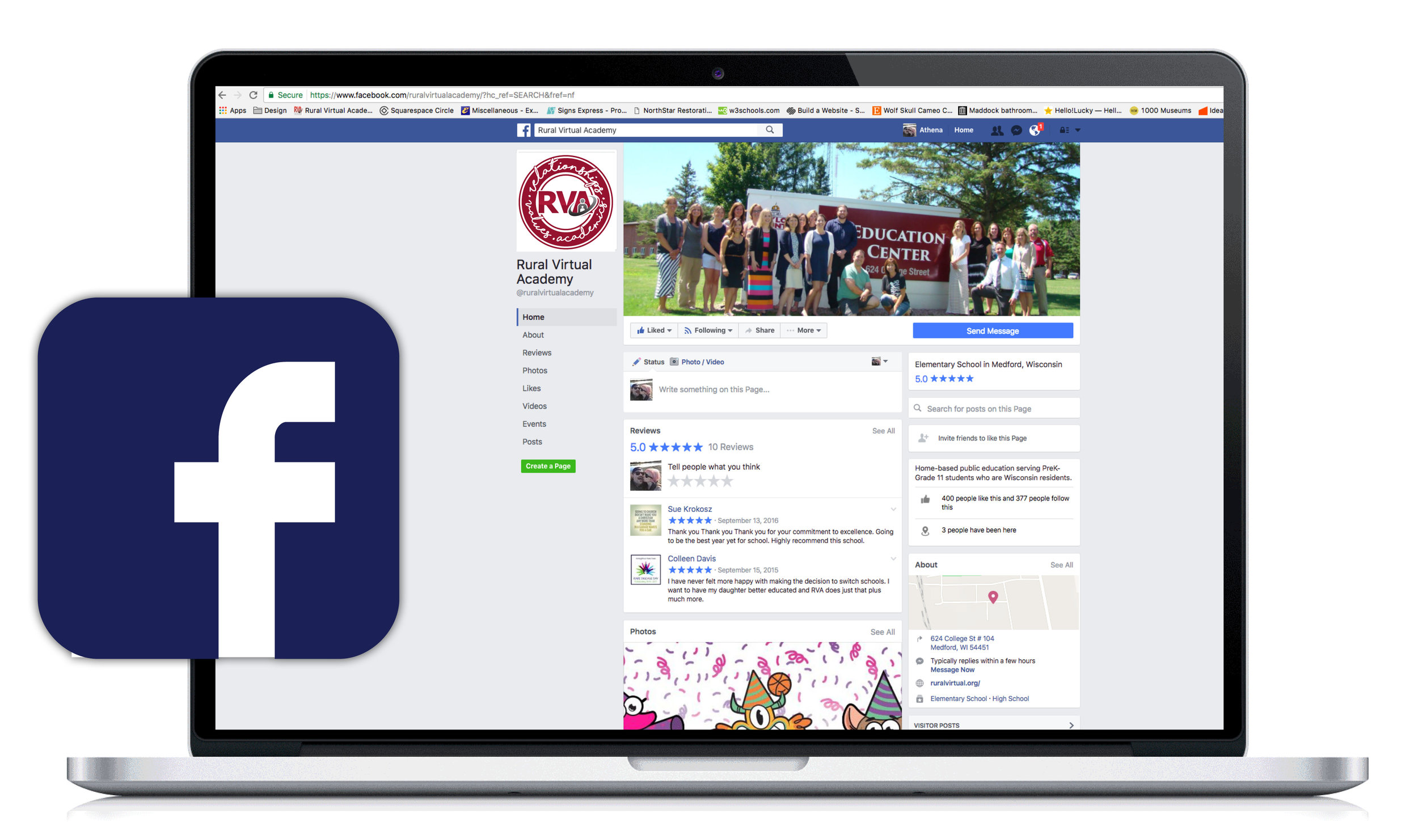 Check out our facebook page and see how our awesome students connect and learn! -