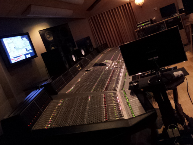 Assisting producer Larry Rosen at Crescent Moon Studio, Miami.