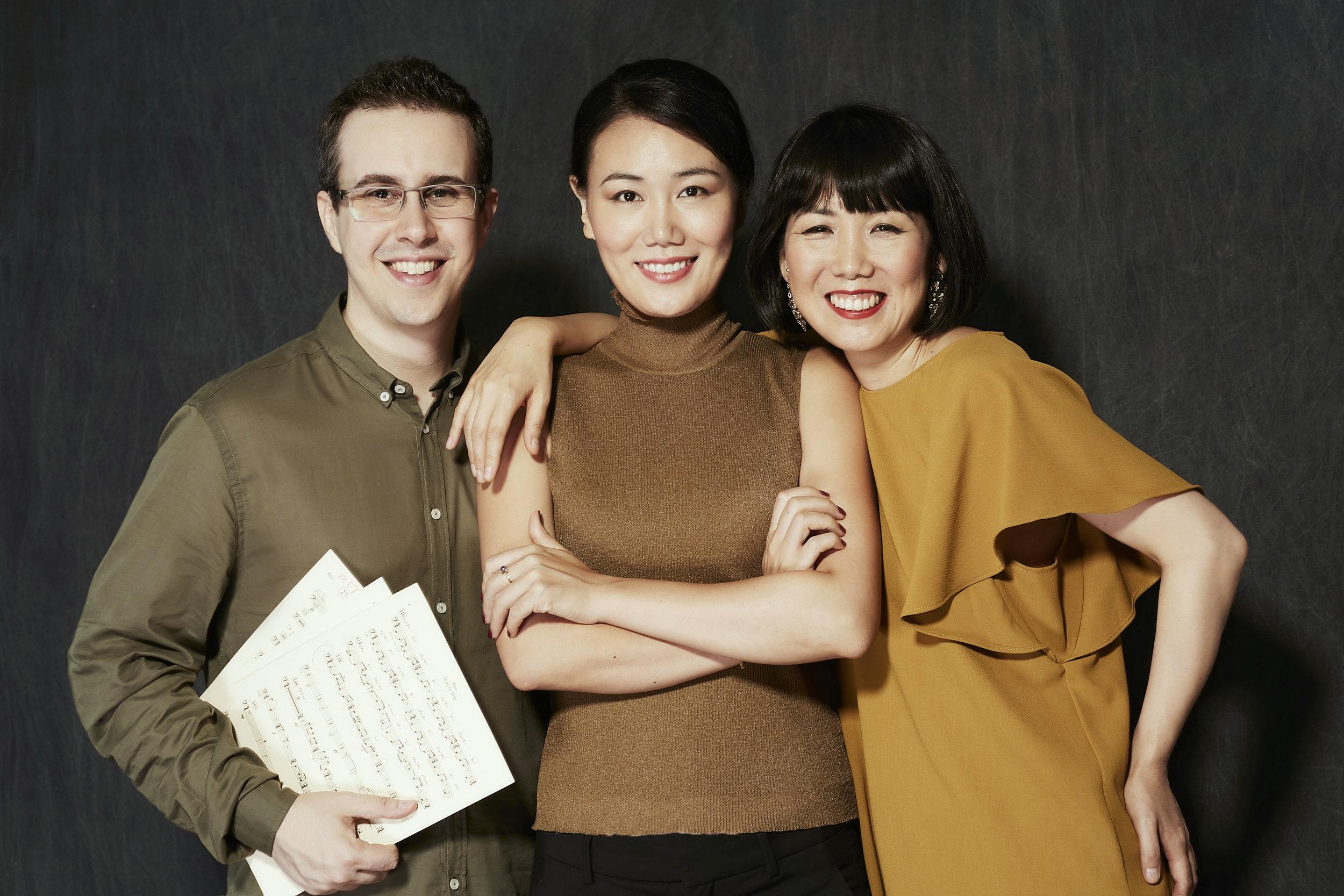 Rafael Piccolotto de Lima (Brazil), Jihye Lee (South Korea) and Migiwa Miyajima (Japan)