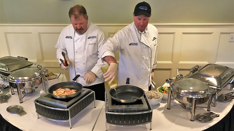 James Hourihan and The Common's Senior Director of Dining Services  Todd McGovern  and cooked lunch by demonstrating our Sensory Dining program.