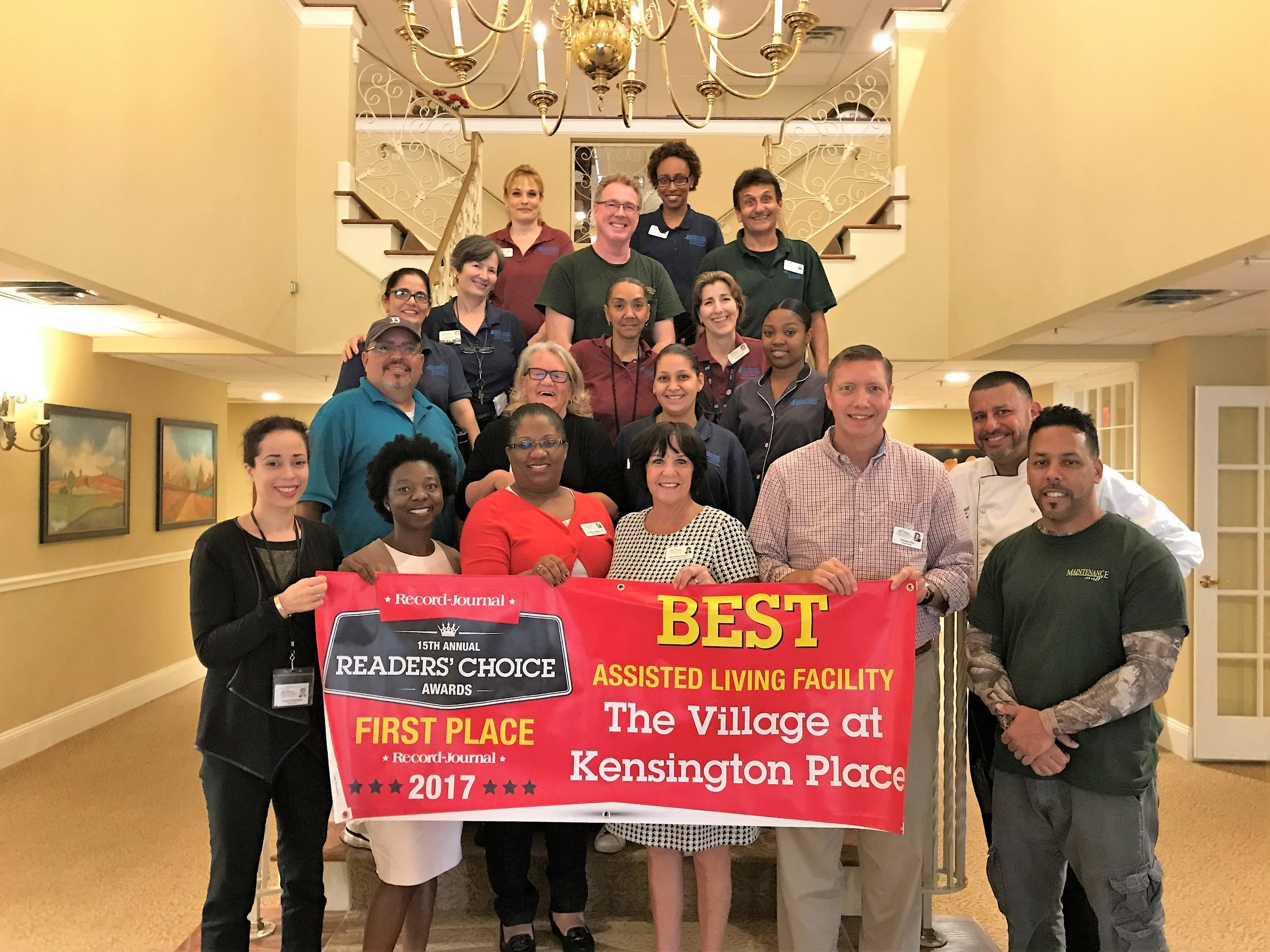 The  Record-Journal  daily newspaper covers a large area of central Connecticut that includes some big players in senior living. But when the team at  T he Village at Kensington Place in Meriden, Conn., learned their community was nominated for a  Record-Journal  Readers' Choice award, they were undaunted.