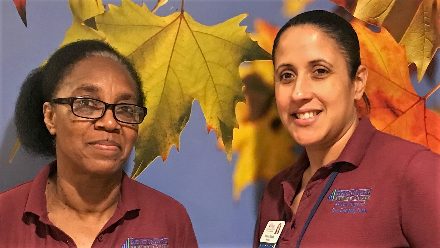 Anicie Labady, left, and Yamaira Mandez, housekeepers at The Village at Buckland Court, have family members who were heavily impacted when Hurricane Maria unleashed its fury in the Caribbean.