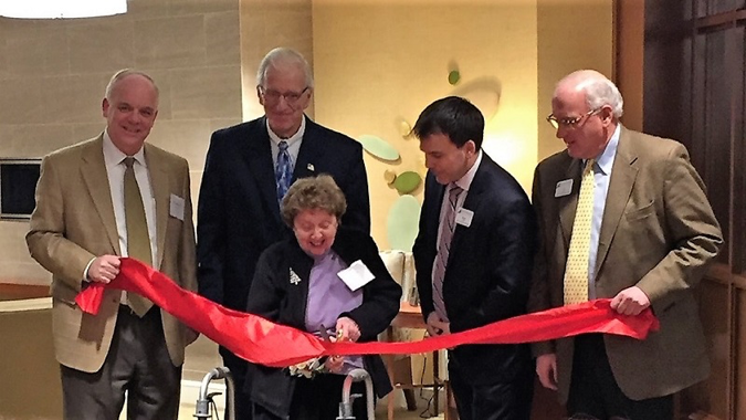 A year ago, Marge, the community's first resident, cut the ribbon at the opening ceremony.