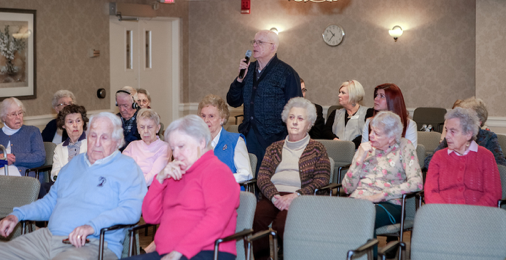 New Pond Village residents were eager to discuss issues they care about during the town hall.