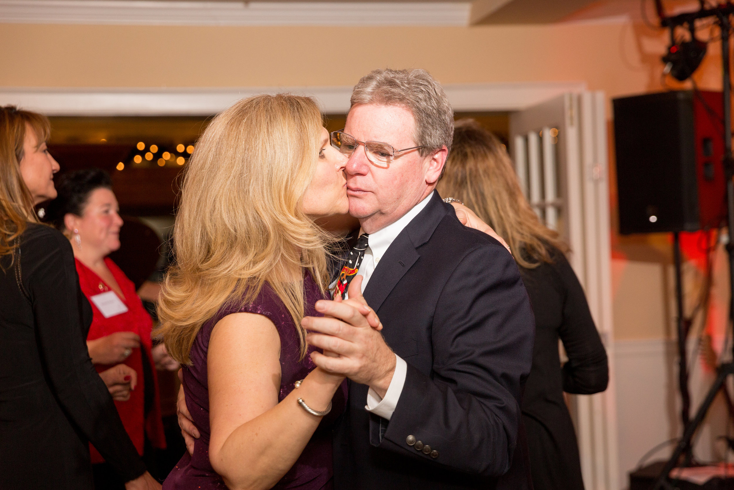 John with his wife, Pia, at the 2016 Benchmark holiday party.