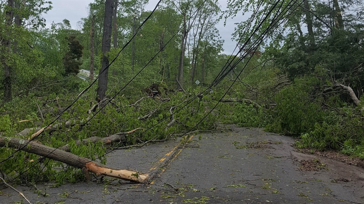 Adele's neighborhood was one of the areas hit hardest by the tornado.