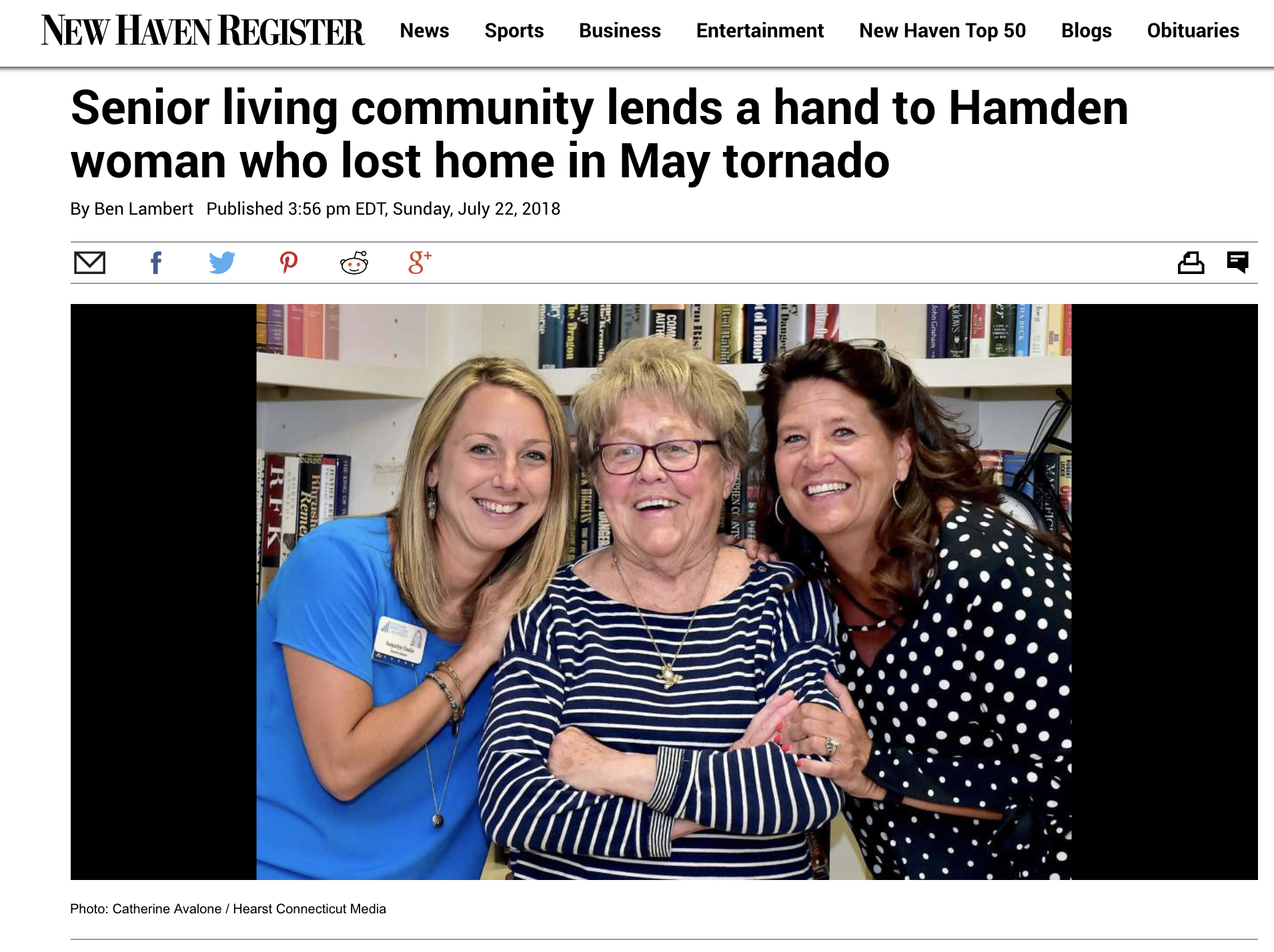 Jacquelyn Gaulin,Adele and Mia Criscuolo story was also published in the New Haven Register.