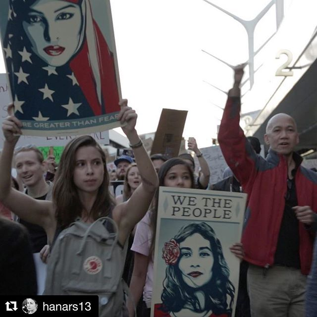 Energy at LAX this Sunday was intense.  Strange combination righteous anger and radical unconditional love. #resisteveryday #iwillnotbesilent #whyimarch #fourthwavedoc #documentingtheresistance