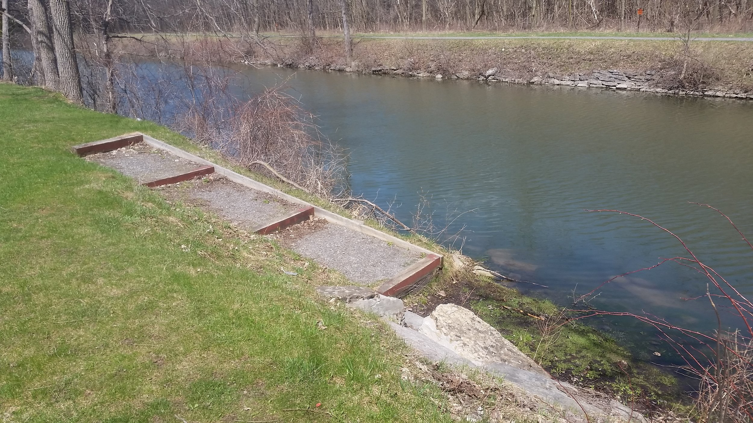 a second boat launch location is available at community recognition park about .4 miles east of the museum at the corner of pottery road and legion drive