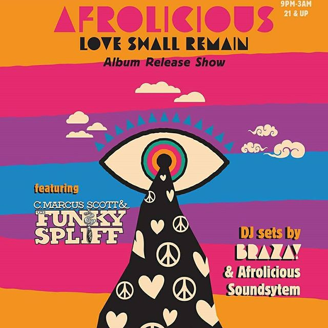 🚨🚨🚨 TONIGHT!!!🚨🚨🚨 @afroliciousfunk and @cmarcusscott and the funky spliffs are taking over the @greatnorthernsf with @brazaparty all night. It's going to be a special night, so come soak in some heavy live funk at a venue that rarely gets down to live bands!