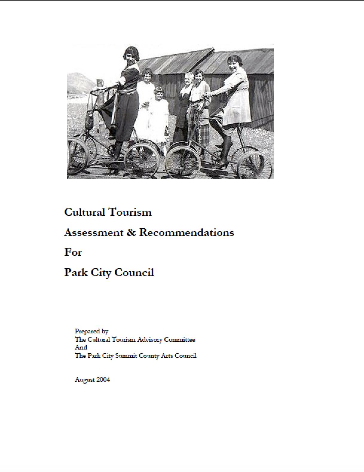 2004 Park City Cultural Tourism Assessment