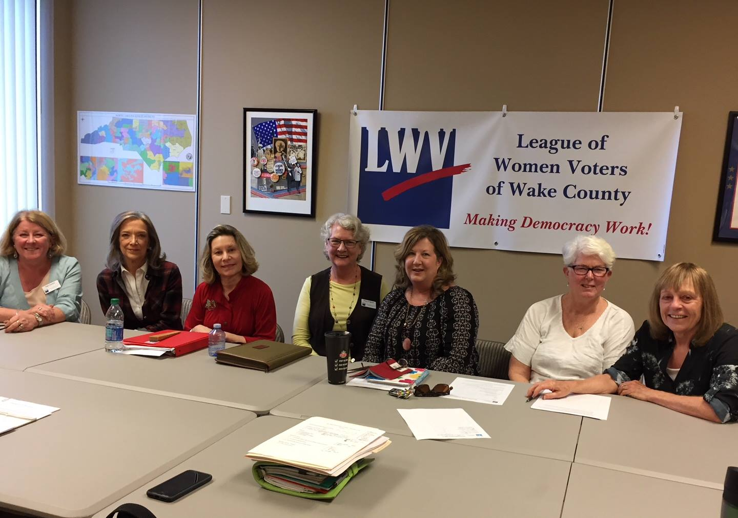 Our Membership Committee meeting in the LWV-Wake office