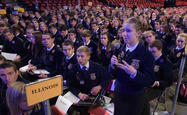 2014 National FFA Convention - During my time as an Illinois state officer, I was selected as a delegate for national convention wherein I served on the Middle School Participation Committee. We discussed opening up opportunities to build upon current and establish new middle school FFA chapters across the nation.